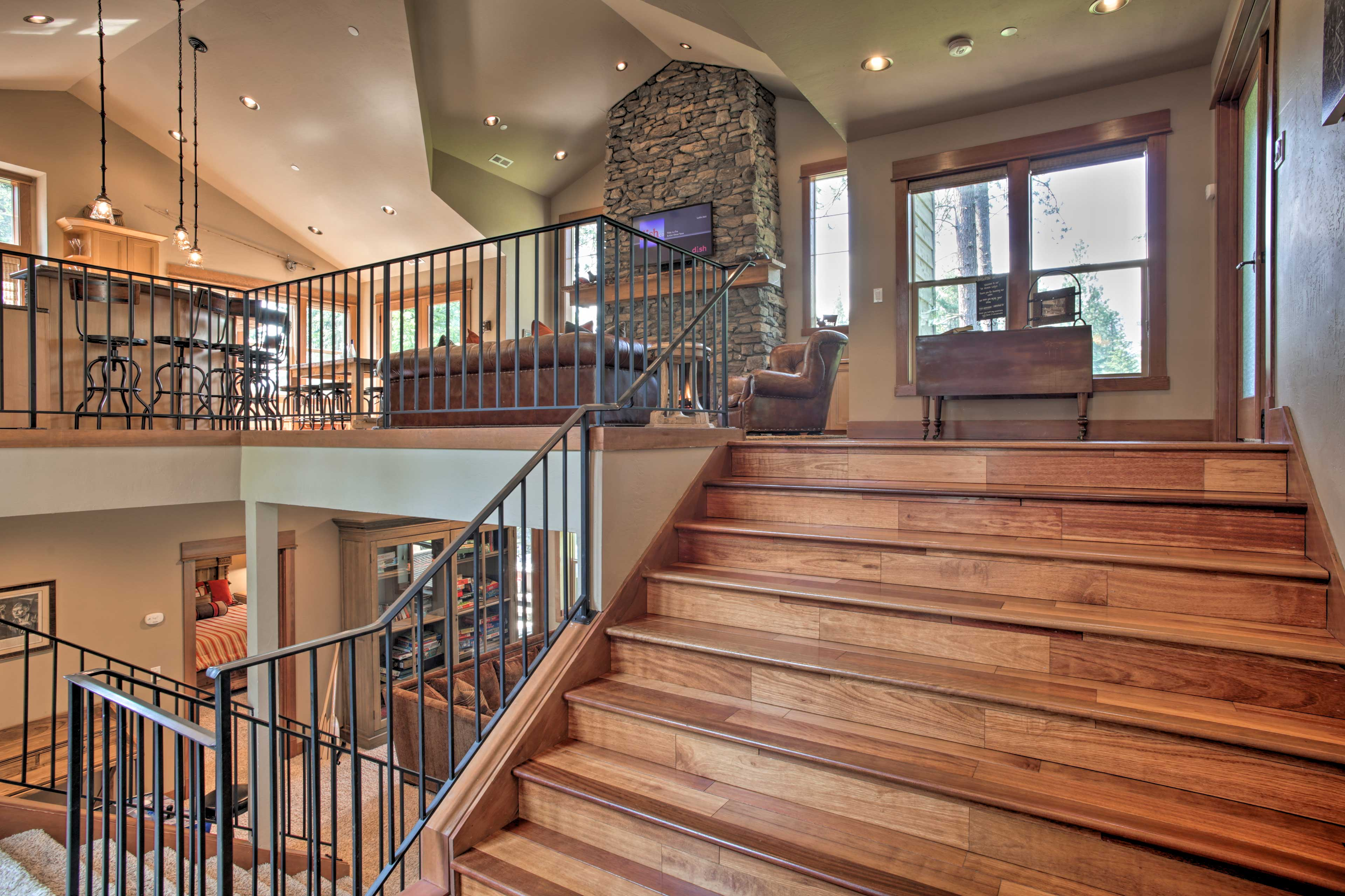 This home features a split-level floor plan.