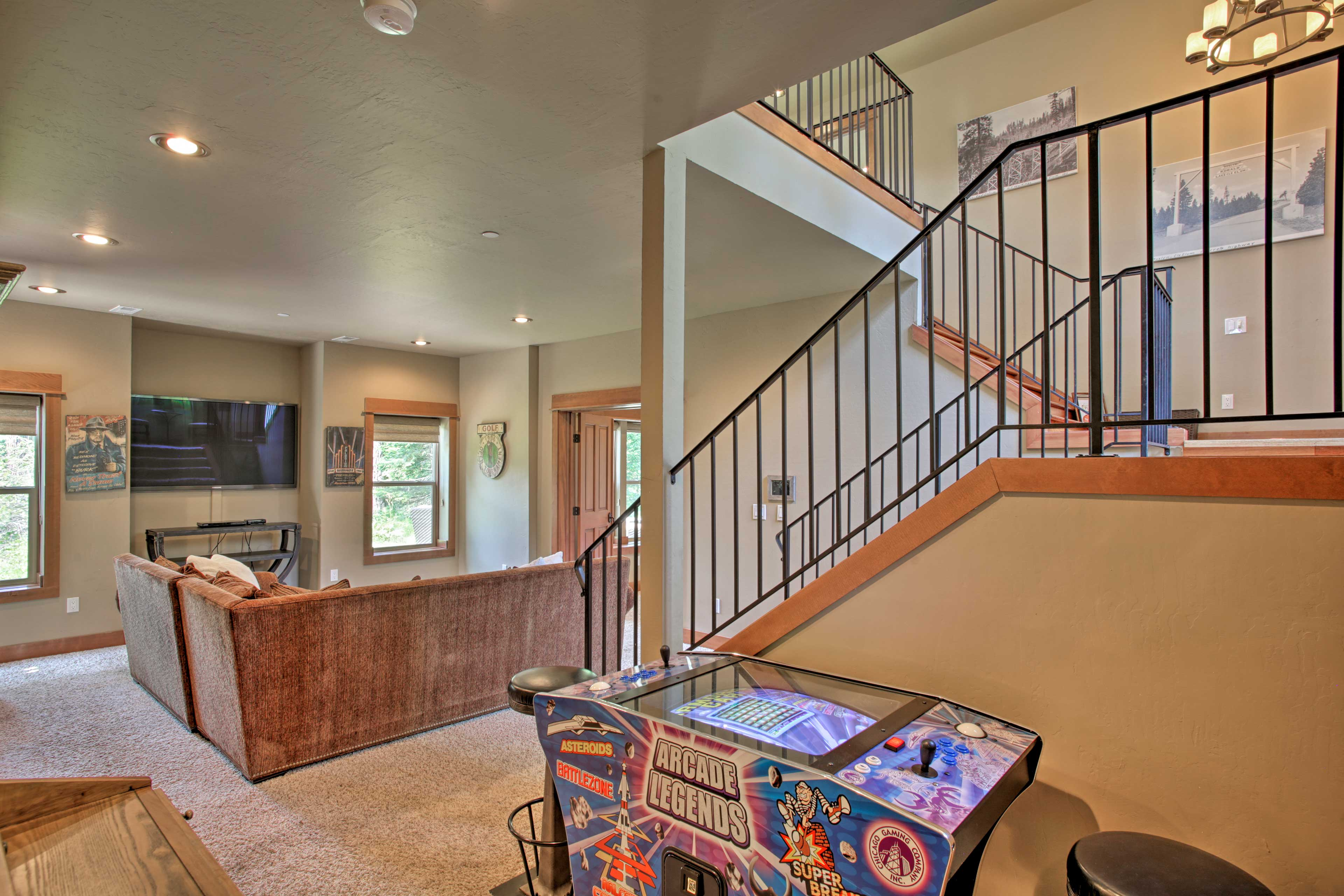 The basement offers a second living space for relaxing and entertaining.