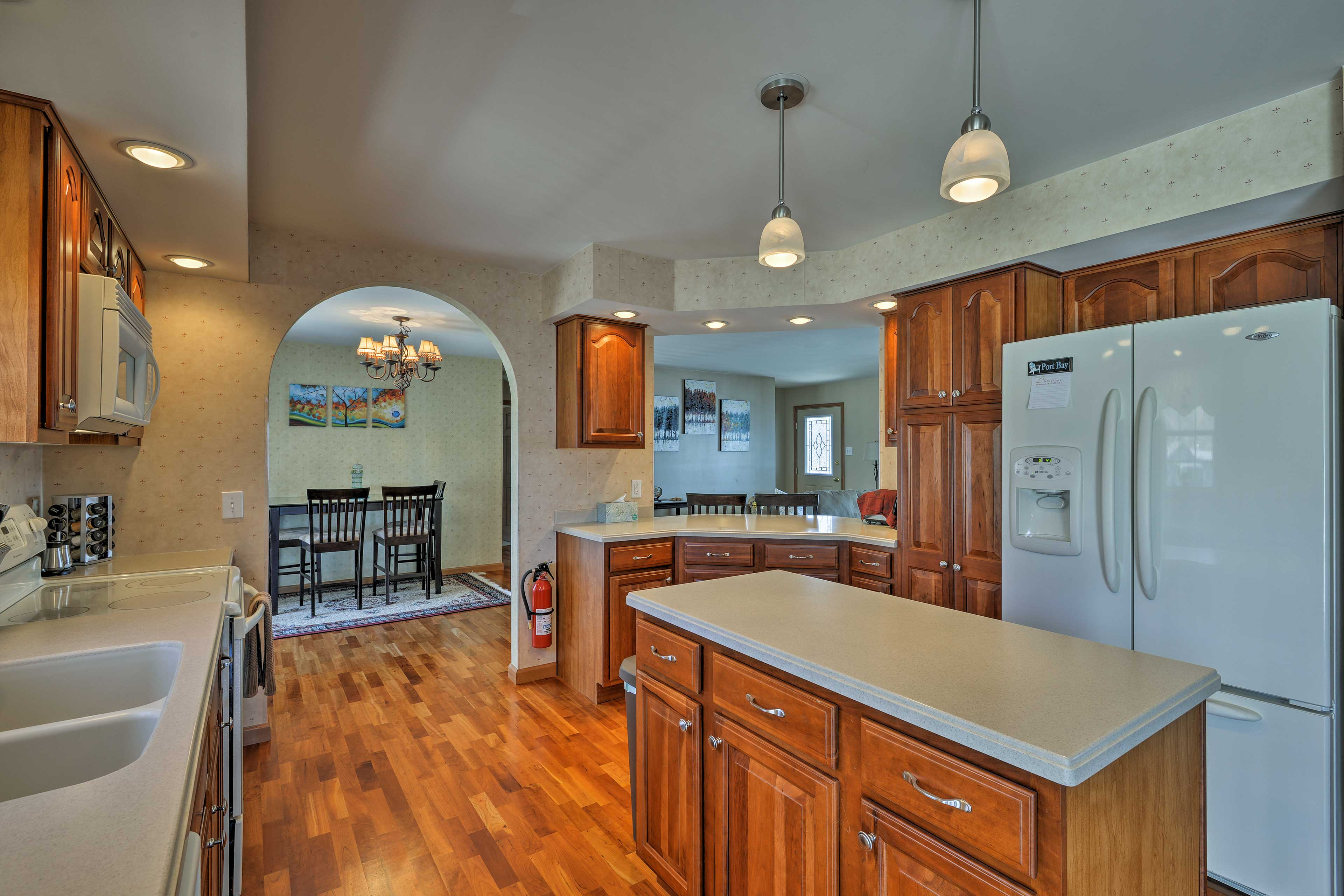 There's never too many cooks in this spacious kitchen.