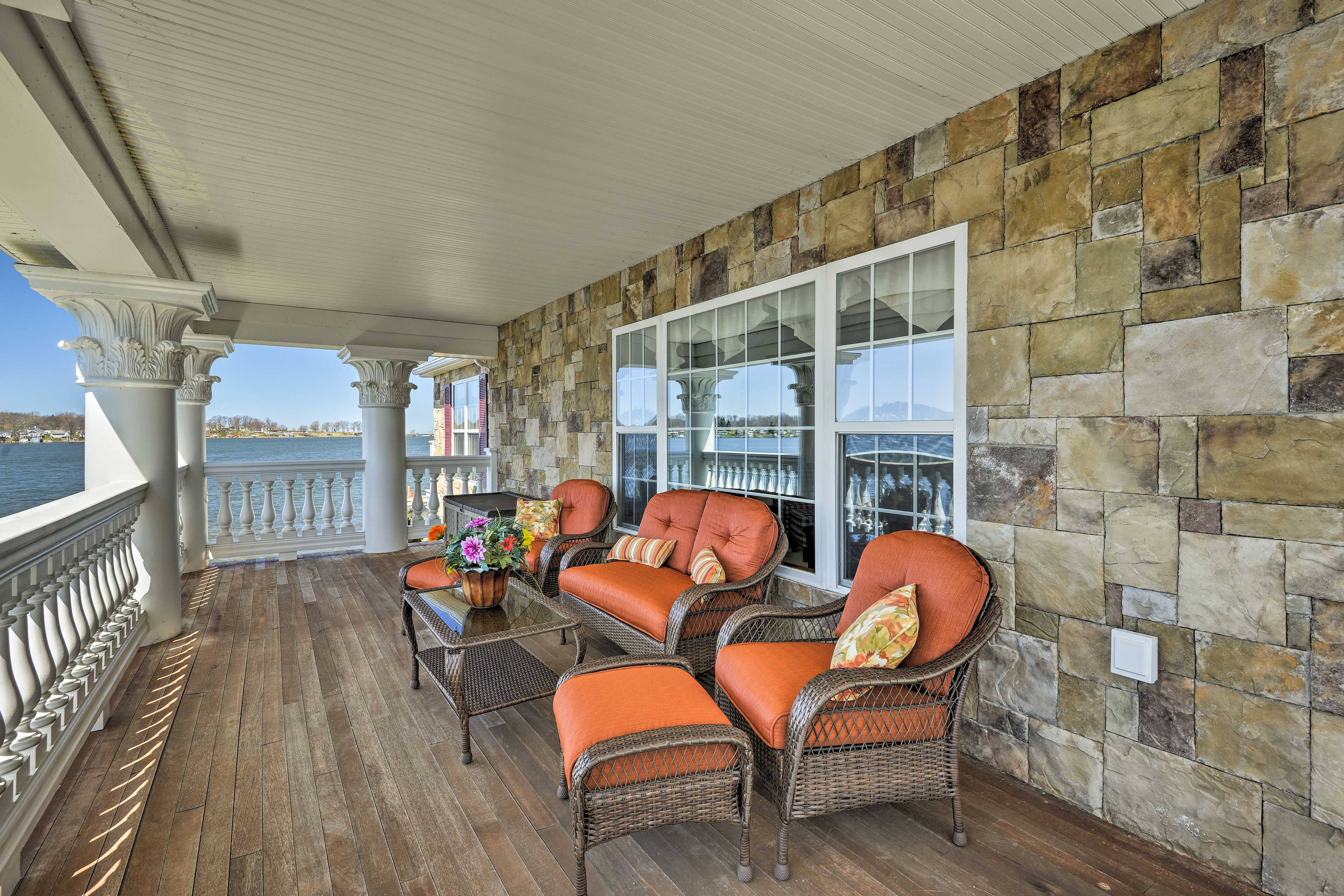 Make your favorite drink and grab a seat on the expansive deck.