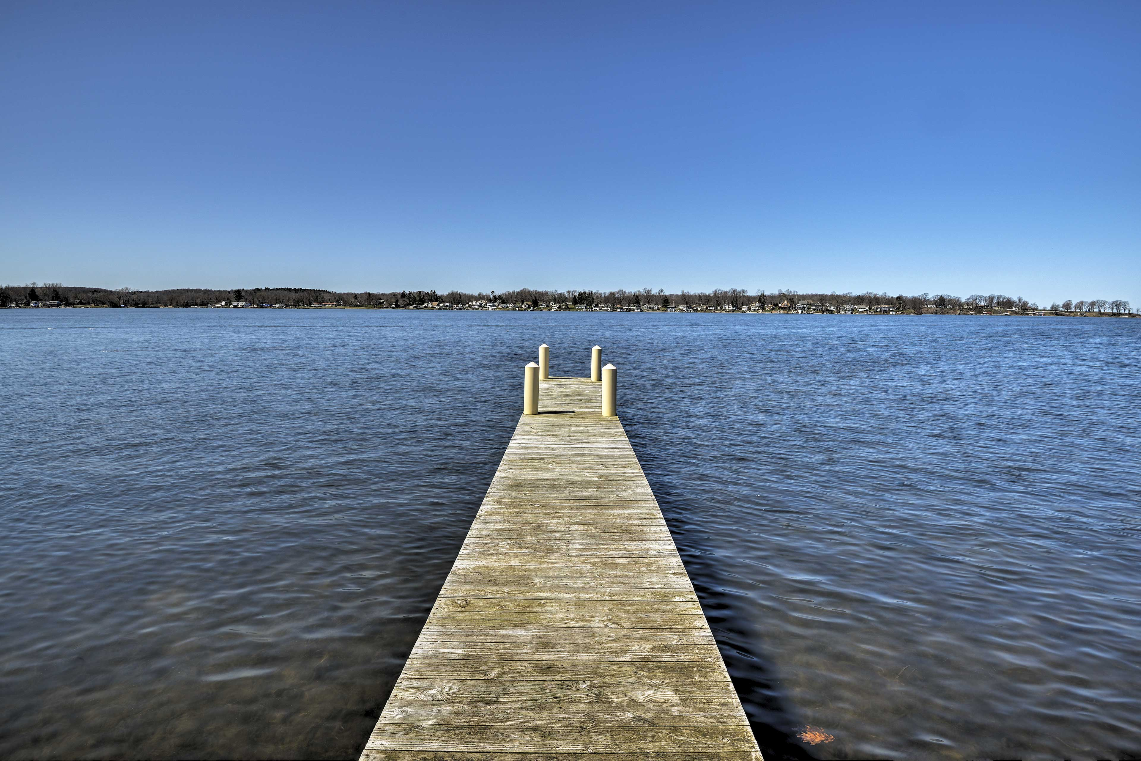 Go for a refreshing swim or park your boat at the private dock.