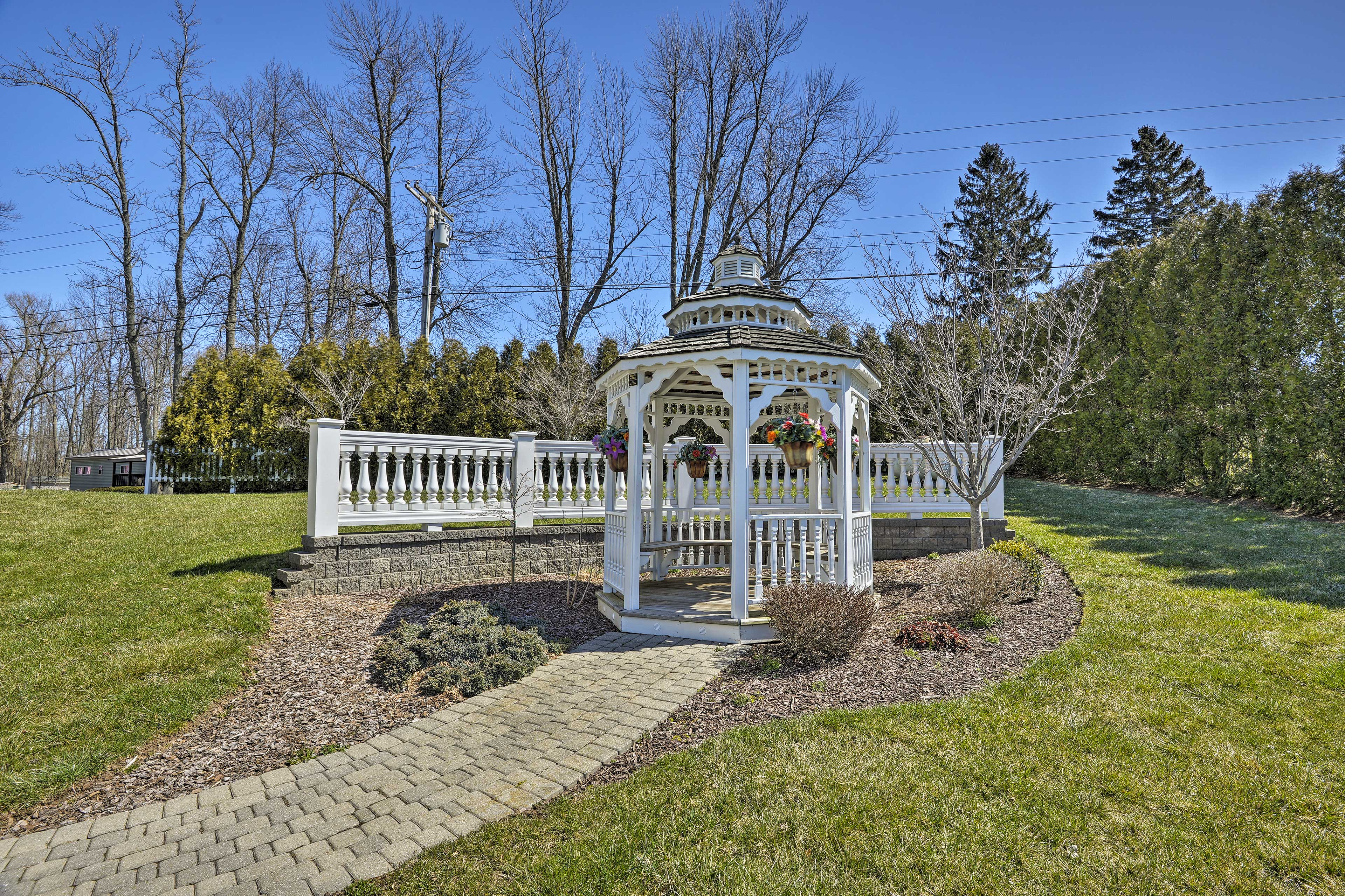 Grab your favorite book and escape to the charming gazebo.
