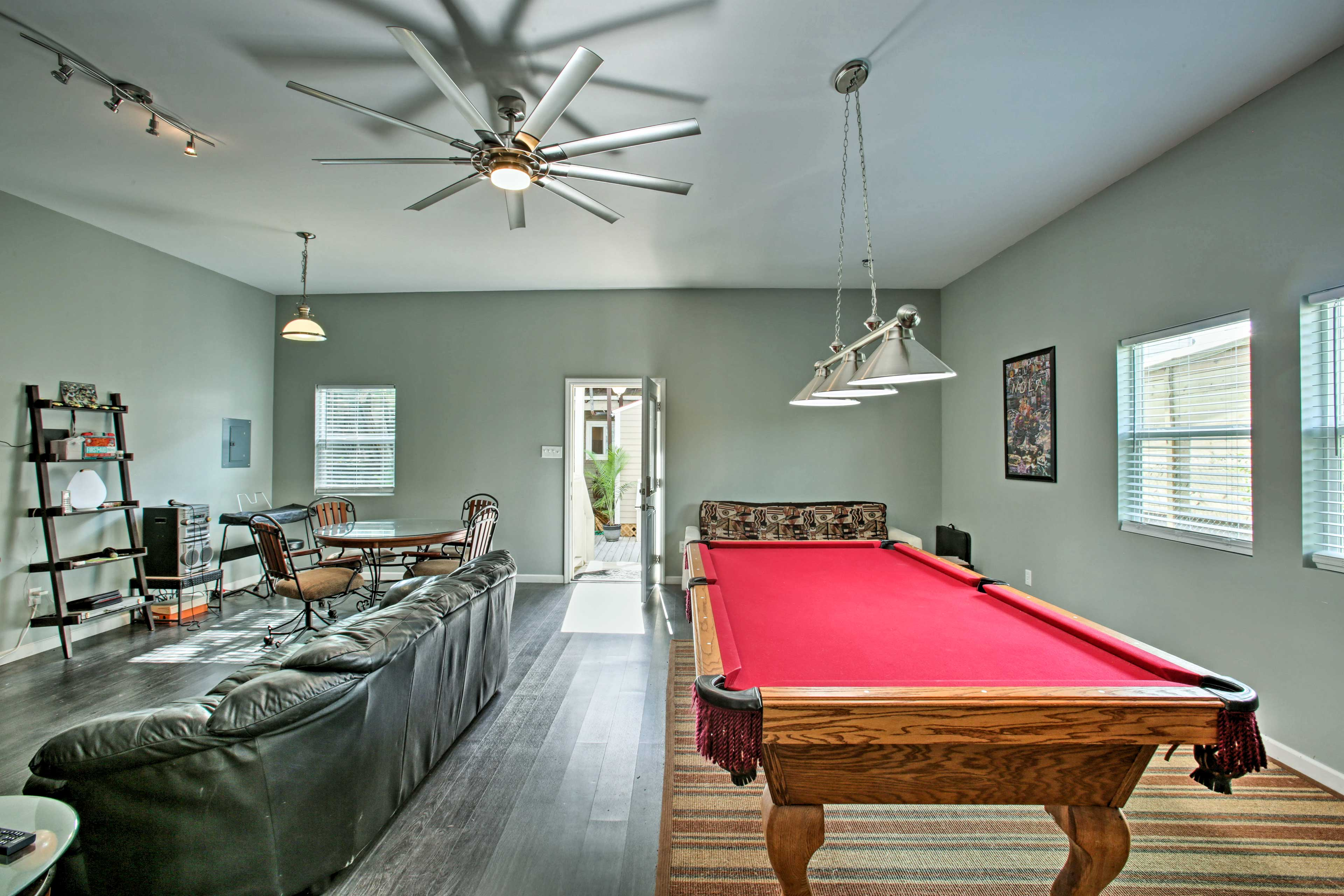 Play some pool or simply relax on the couch.