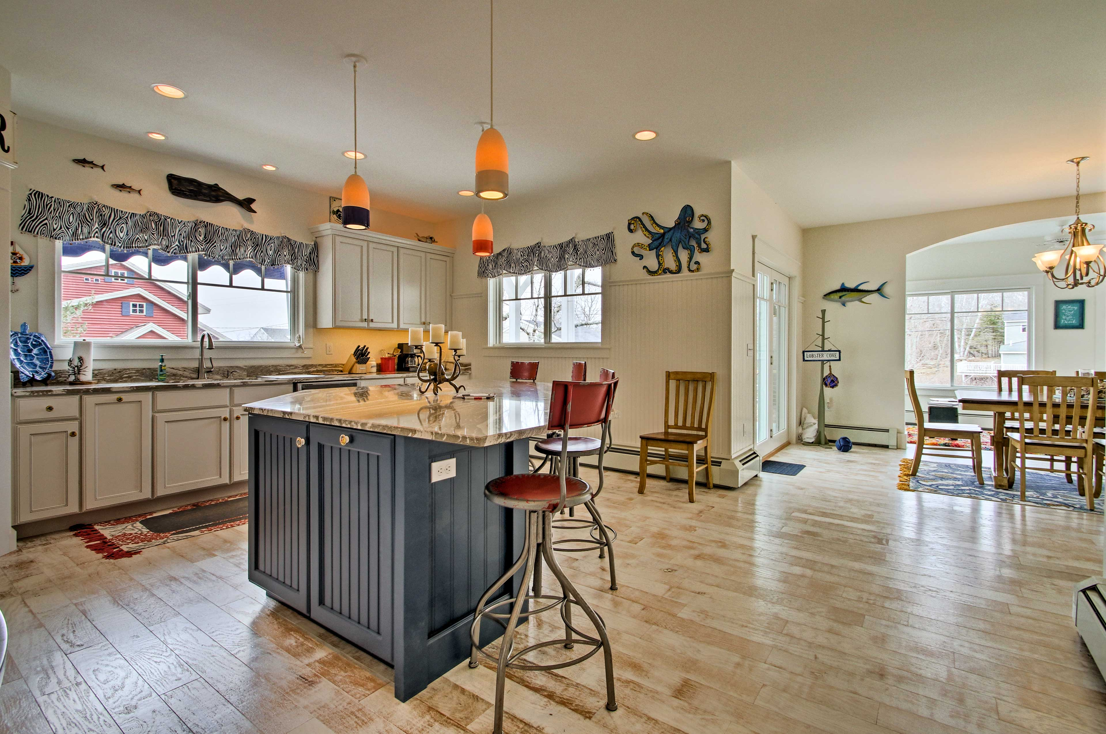 You're sure to adore the expansive kitchen space.