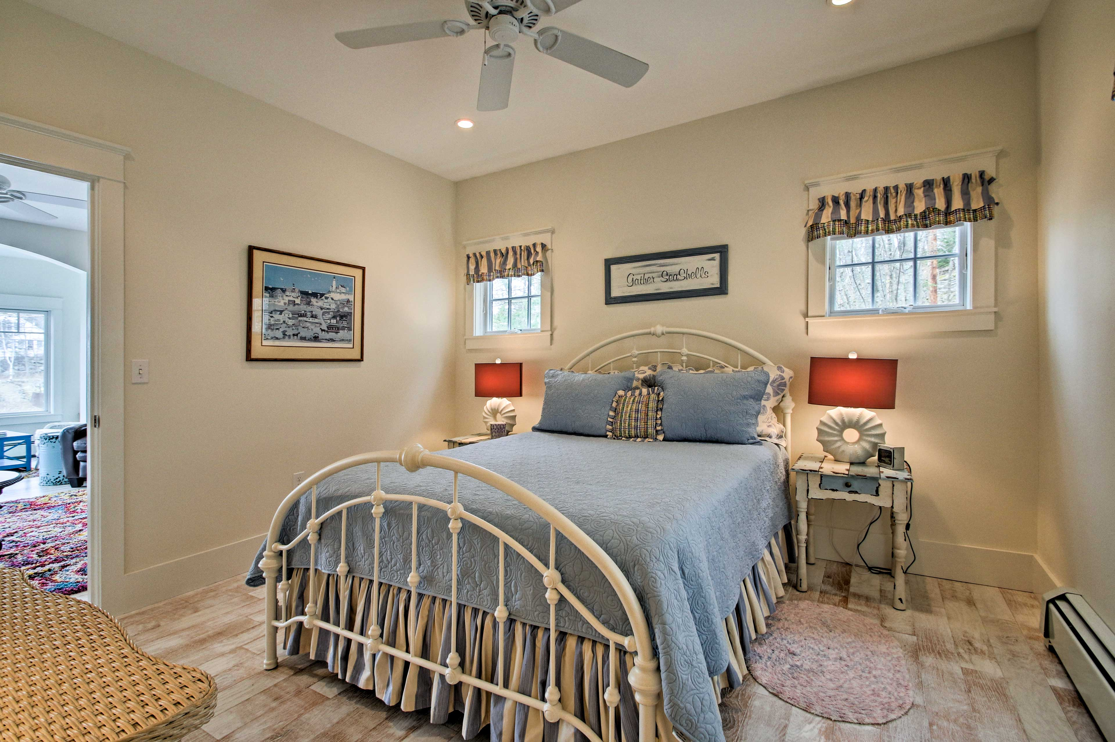 Turn the ceiling fan on for a gentle breeze while you sleep.