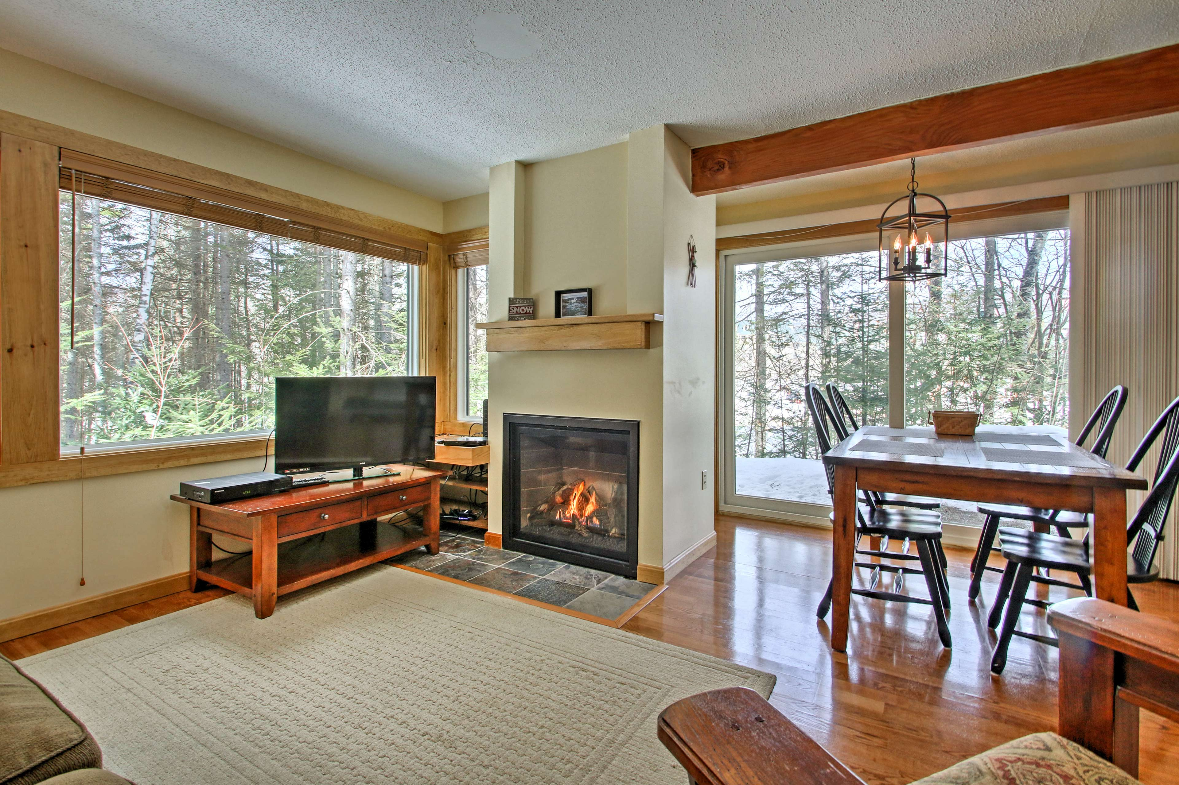 Eliminate your winter chill in front of the gas fireplace.