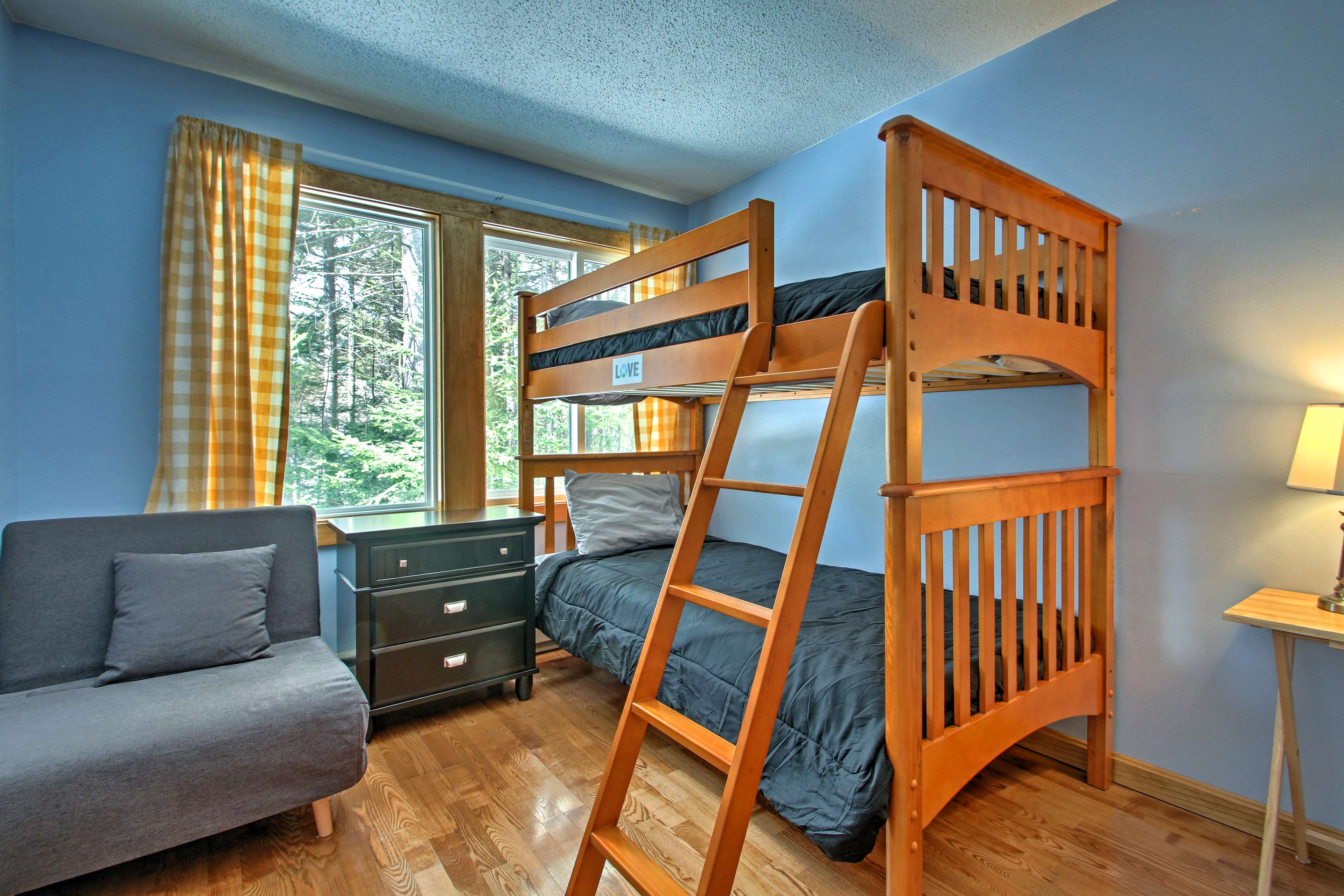 Your little ones will love their twin-over-twin bunk bed.