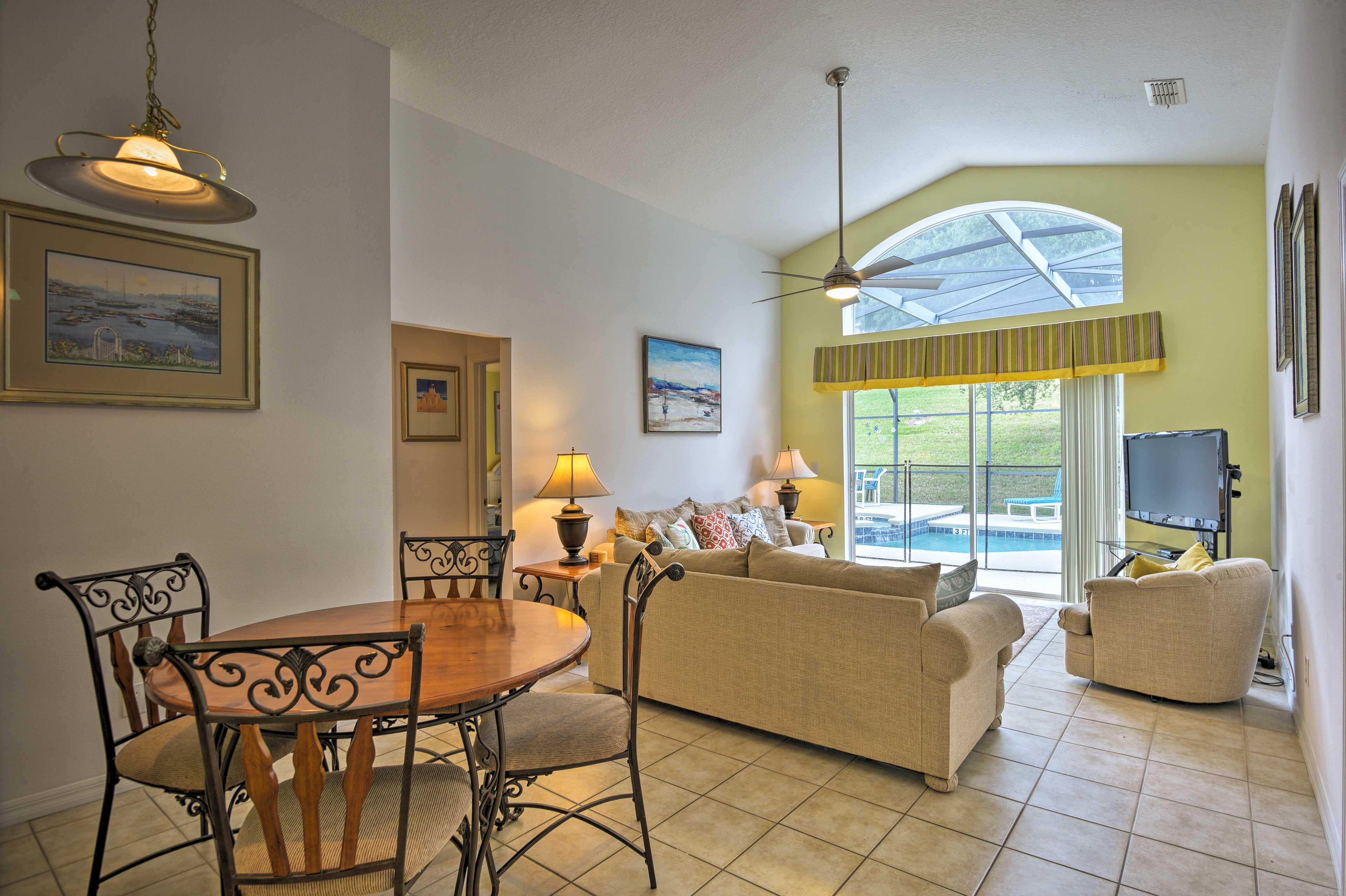 The interior of this 5-bed, 3-bath home is light and airy!