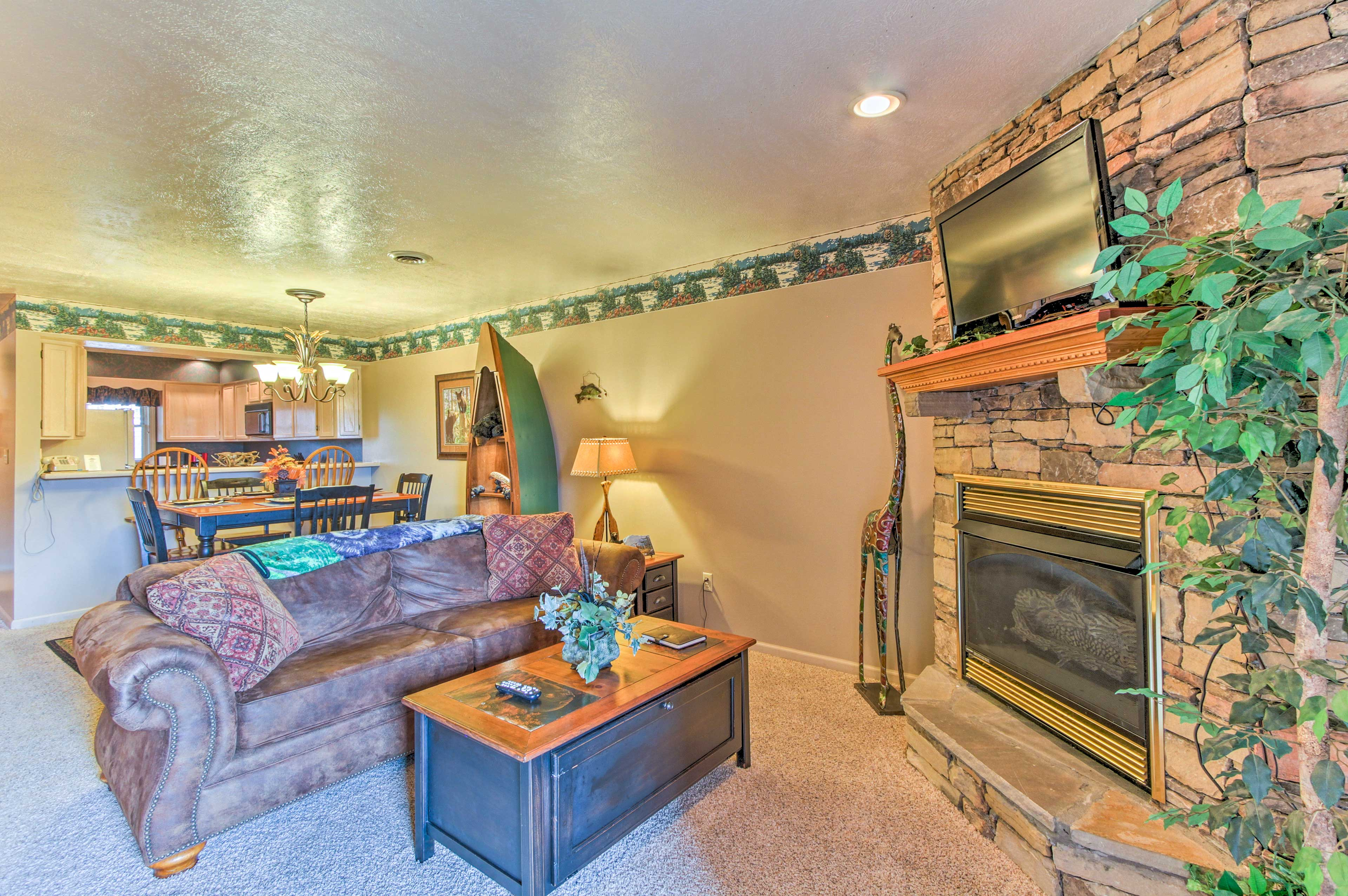 From the fireplace to the balcony space, this condo has it all!