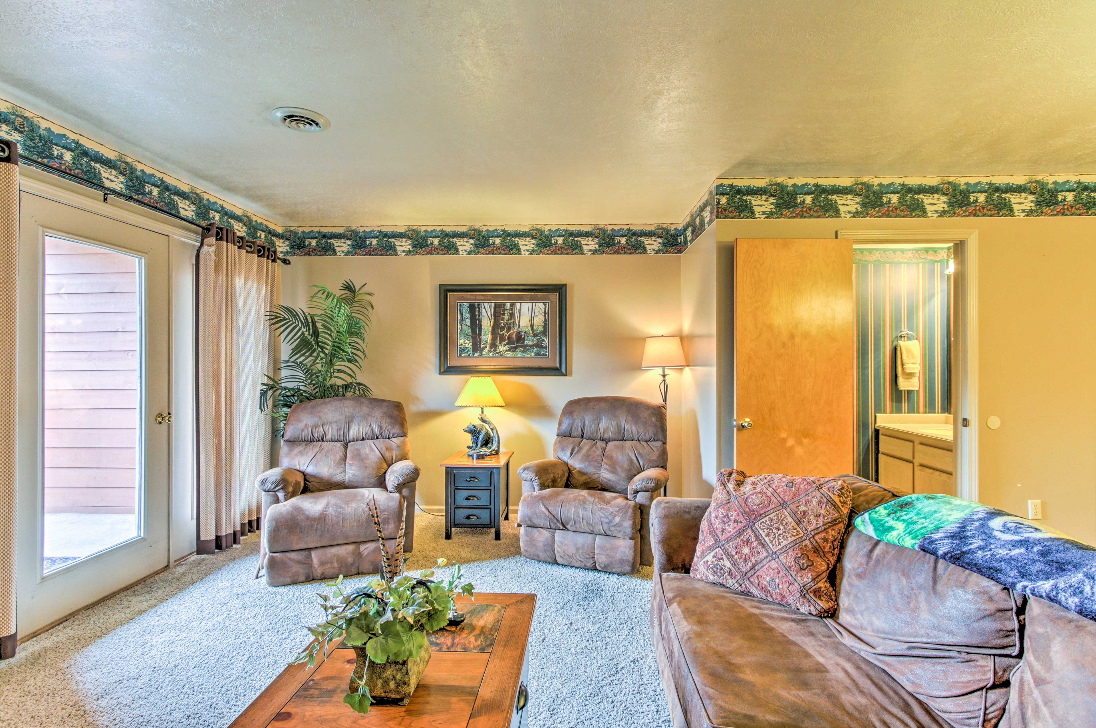 You'll feel warm and cozy with a gas fireplace in the living room.