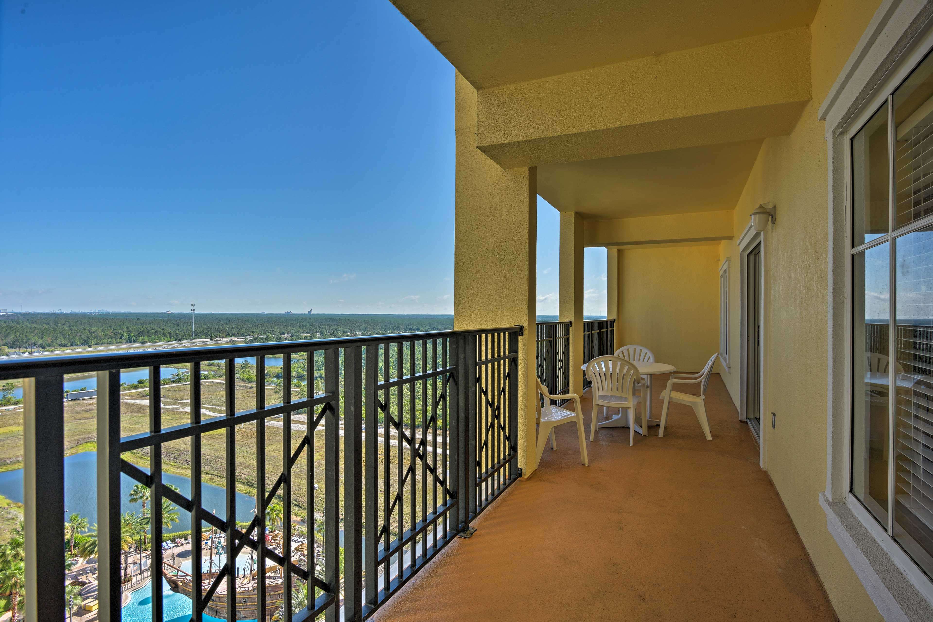 Enjoy the fresh air from this spacious balcony!