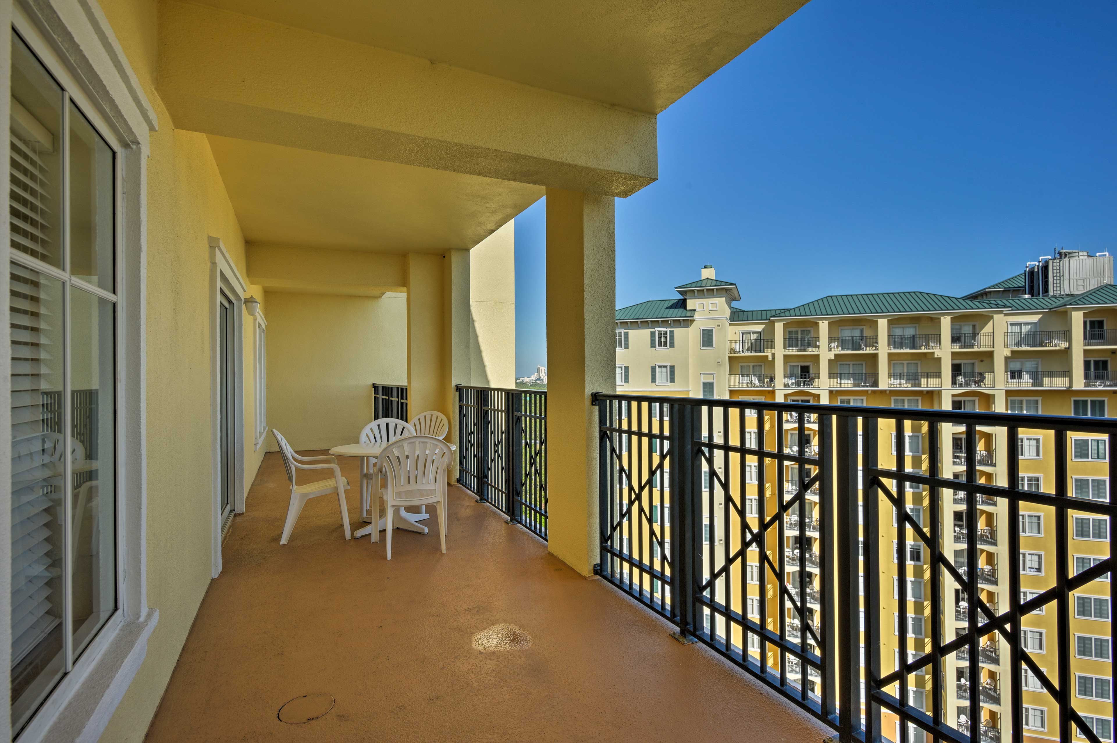 Enjoy the Sunshine State weather on this spacious balcony.