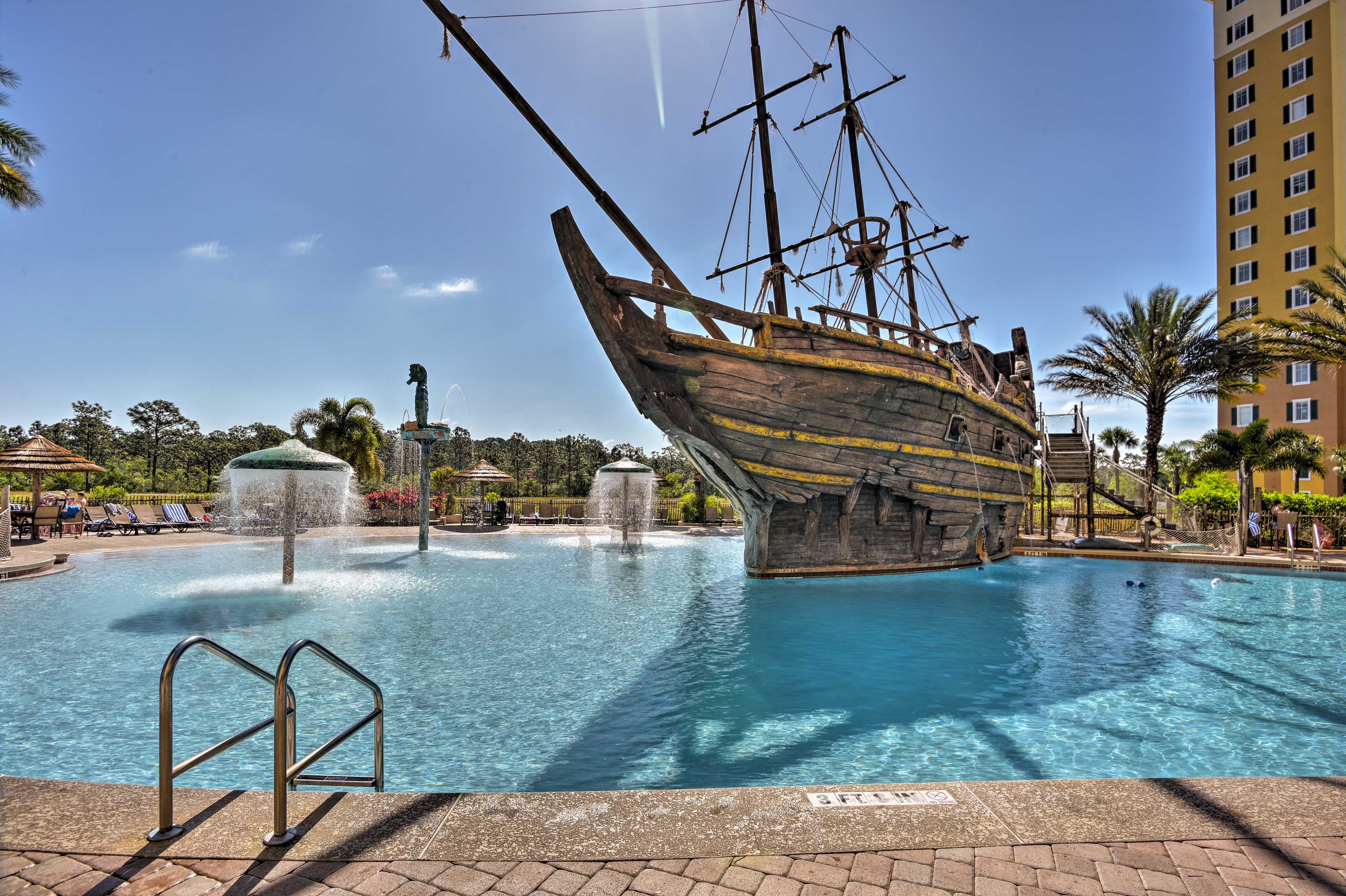 Make your Pirates of the Caribbean dreams come true at this community pool.