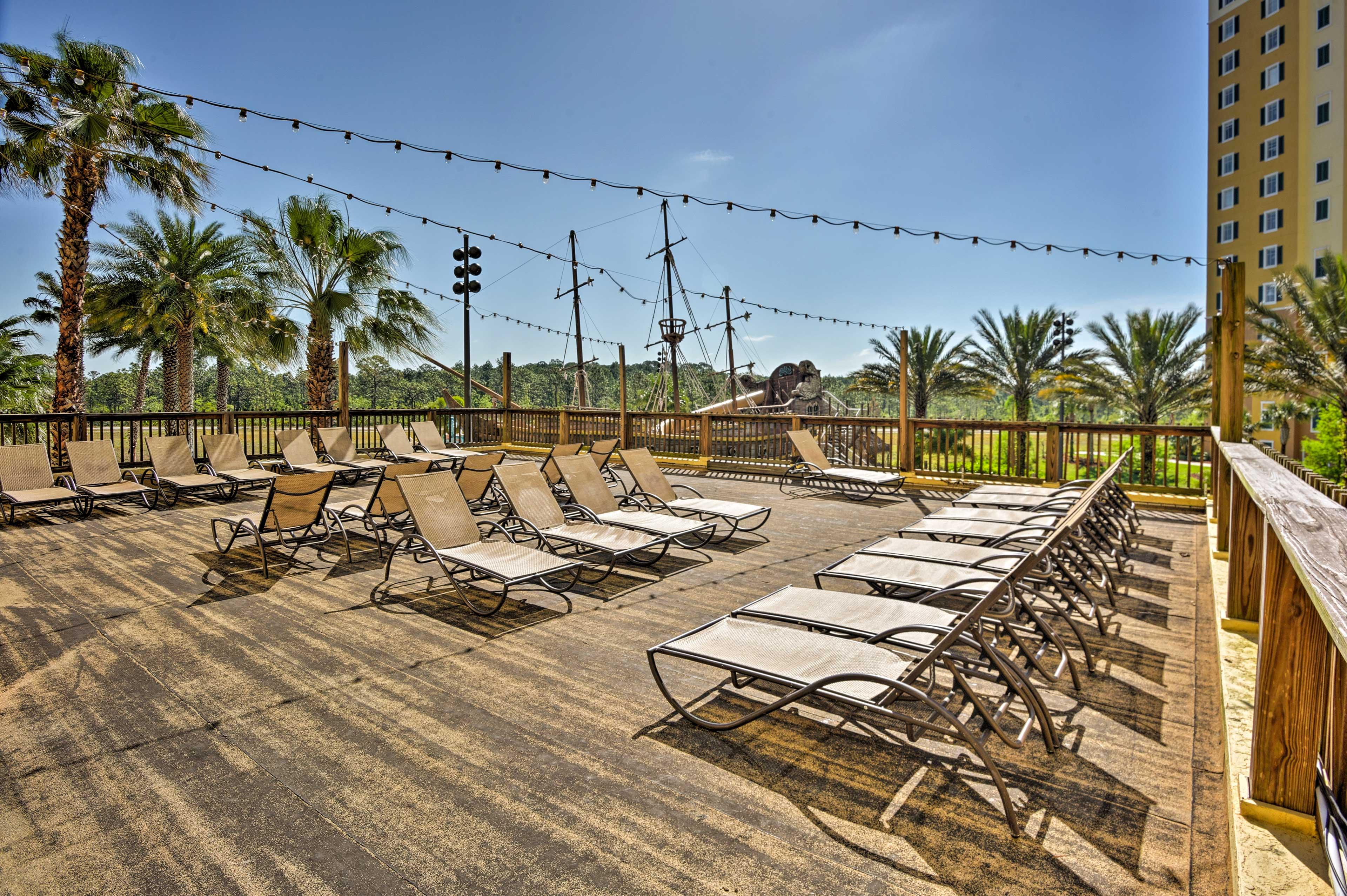 Sunbathe under the radiant Florida sunshine!