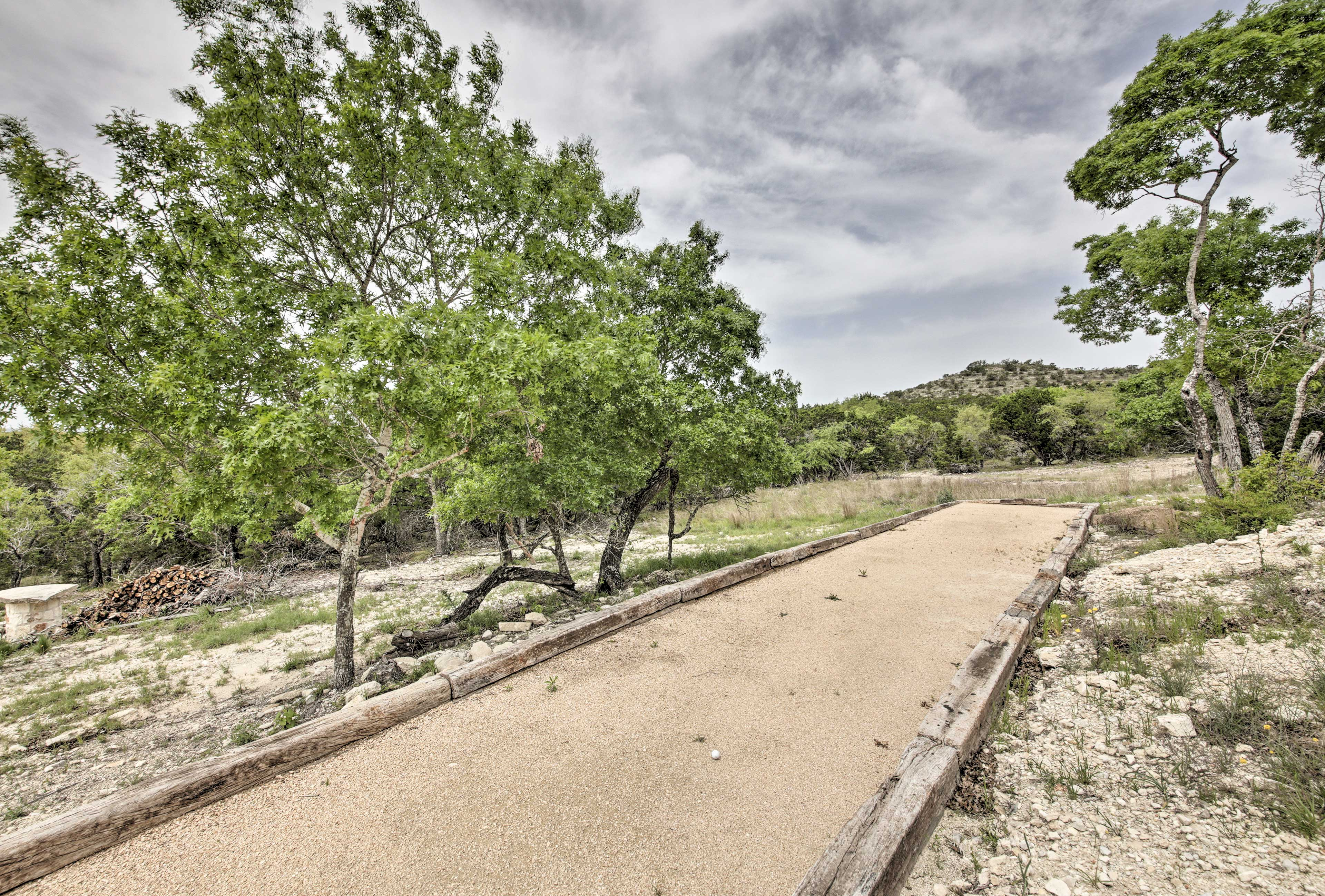Have some fun on the bocce ball court!