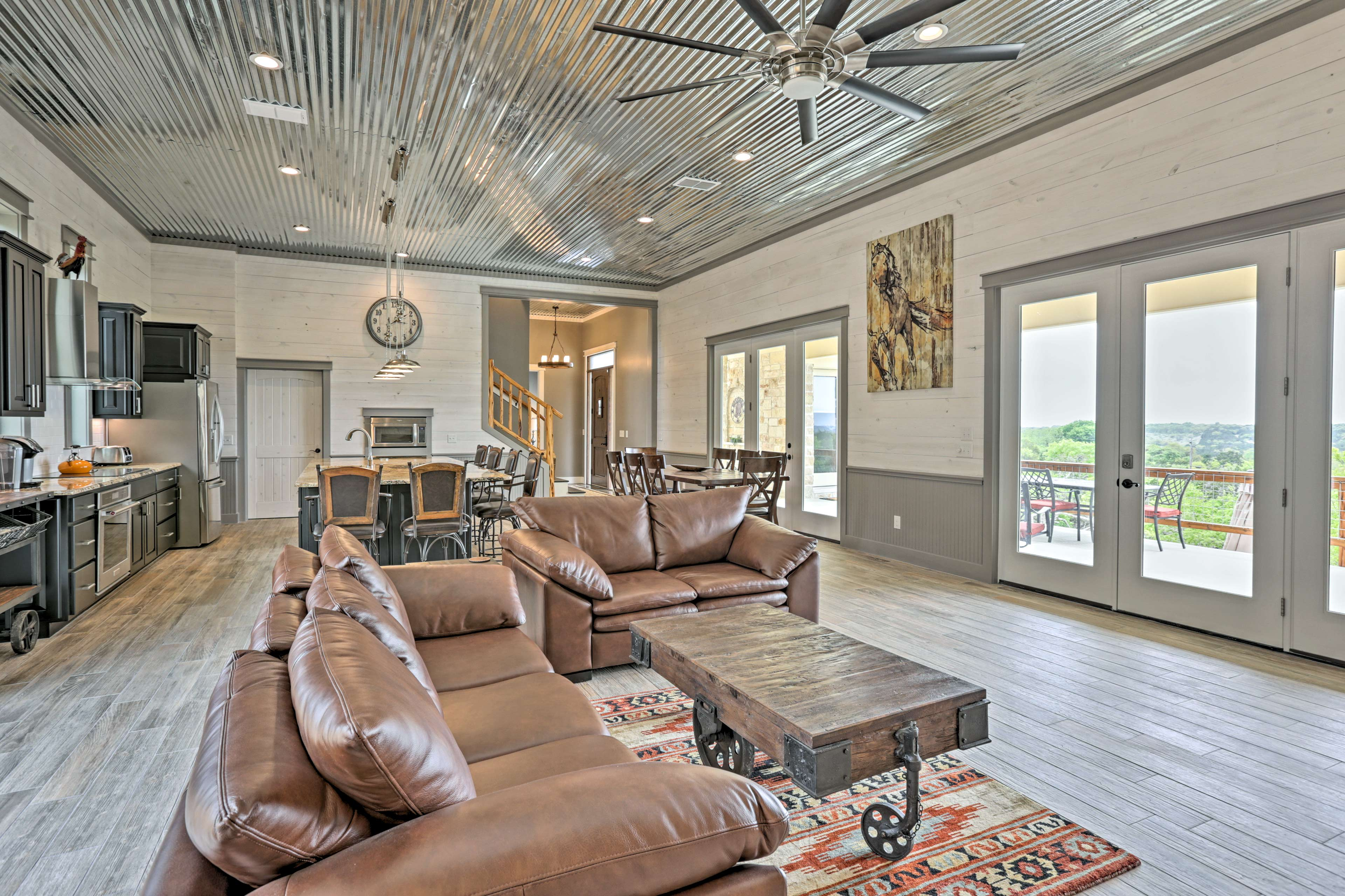 Scenic and secluded, this Wimberley house urges you to relax and recharge.