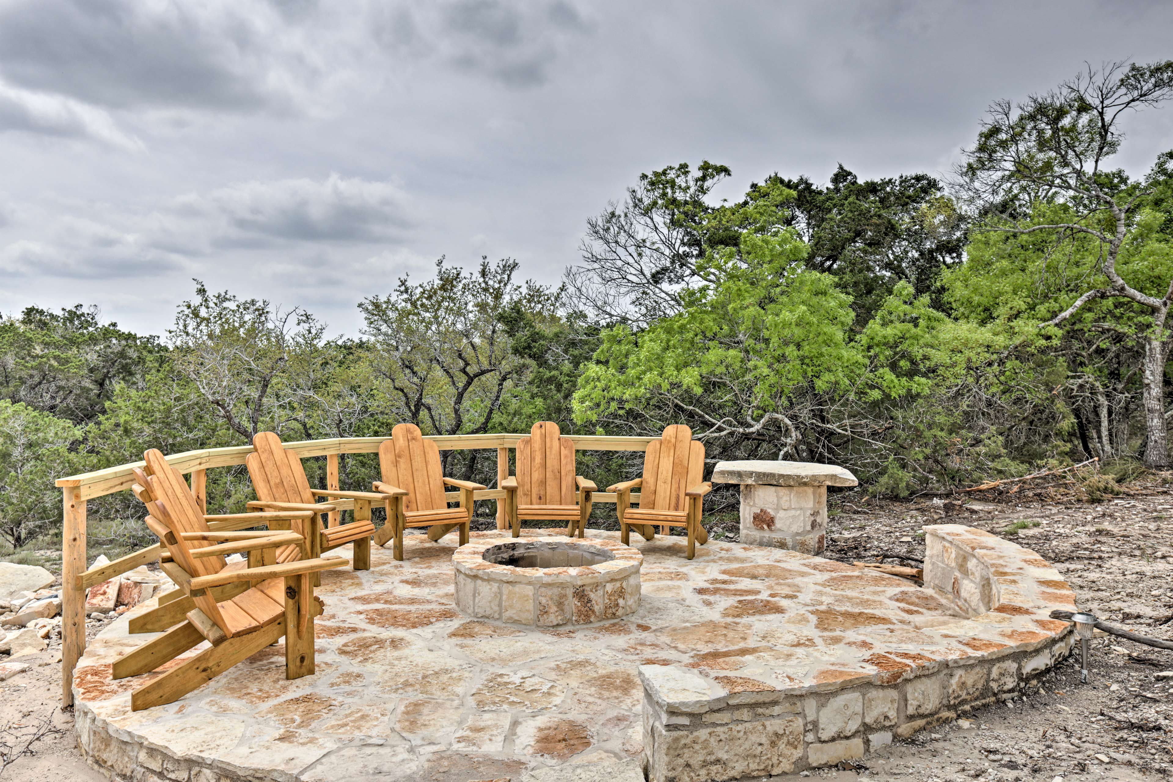 Evenings are well spent around the fire pit with seating for 12.