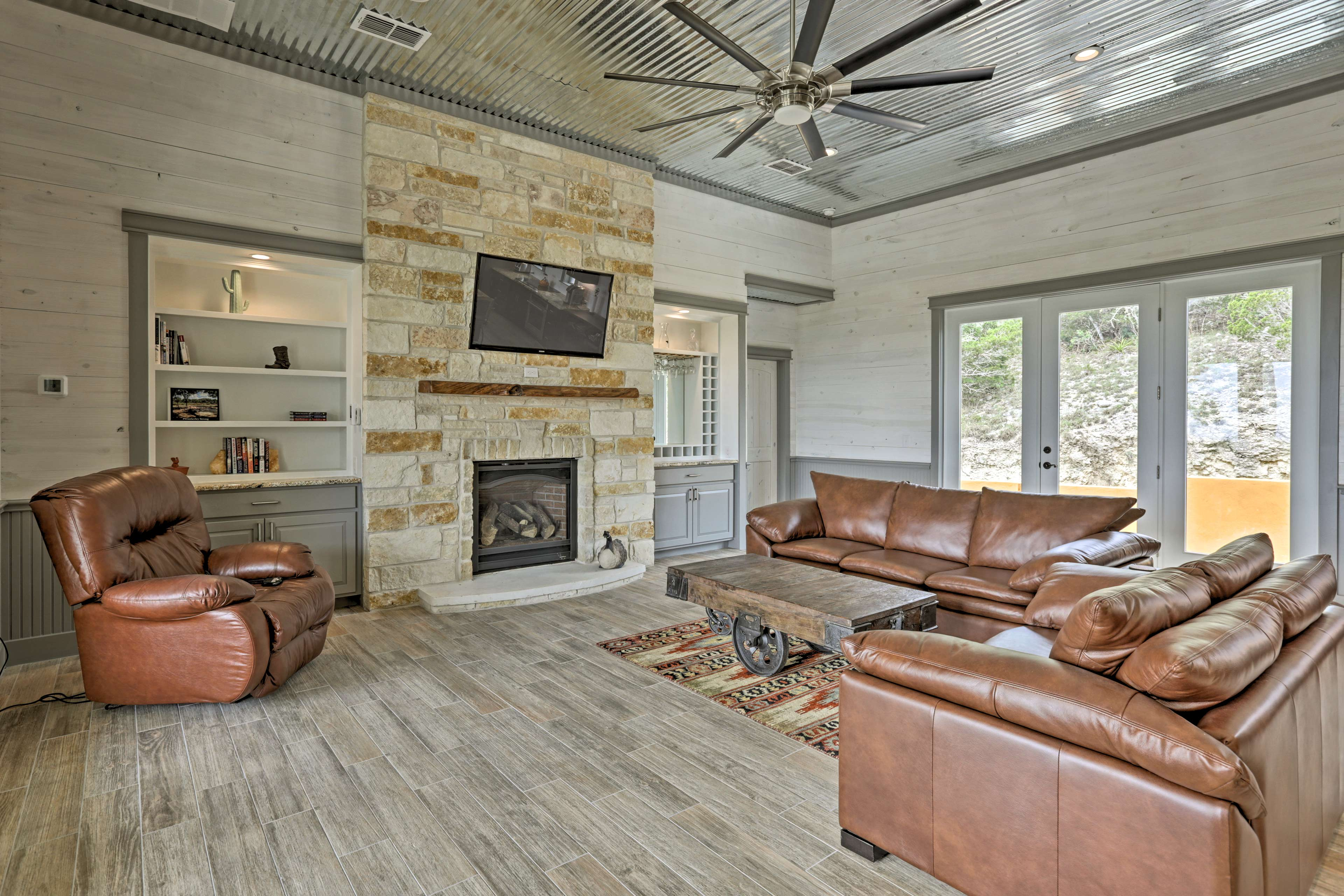The interior features well over 2,000 square feet of newly finished living space.