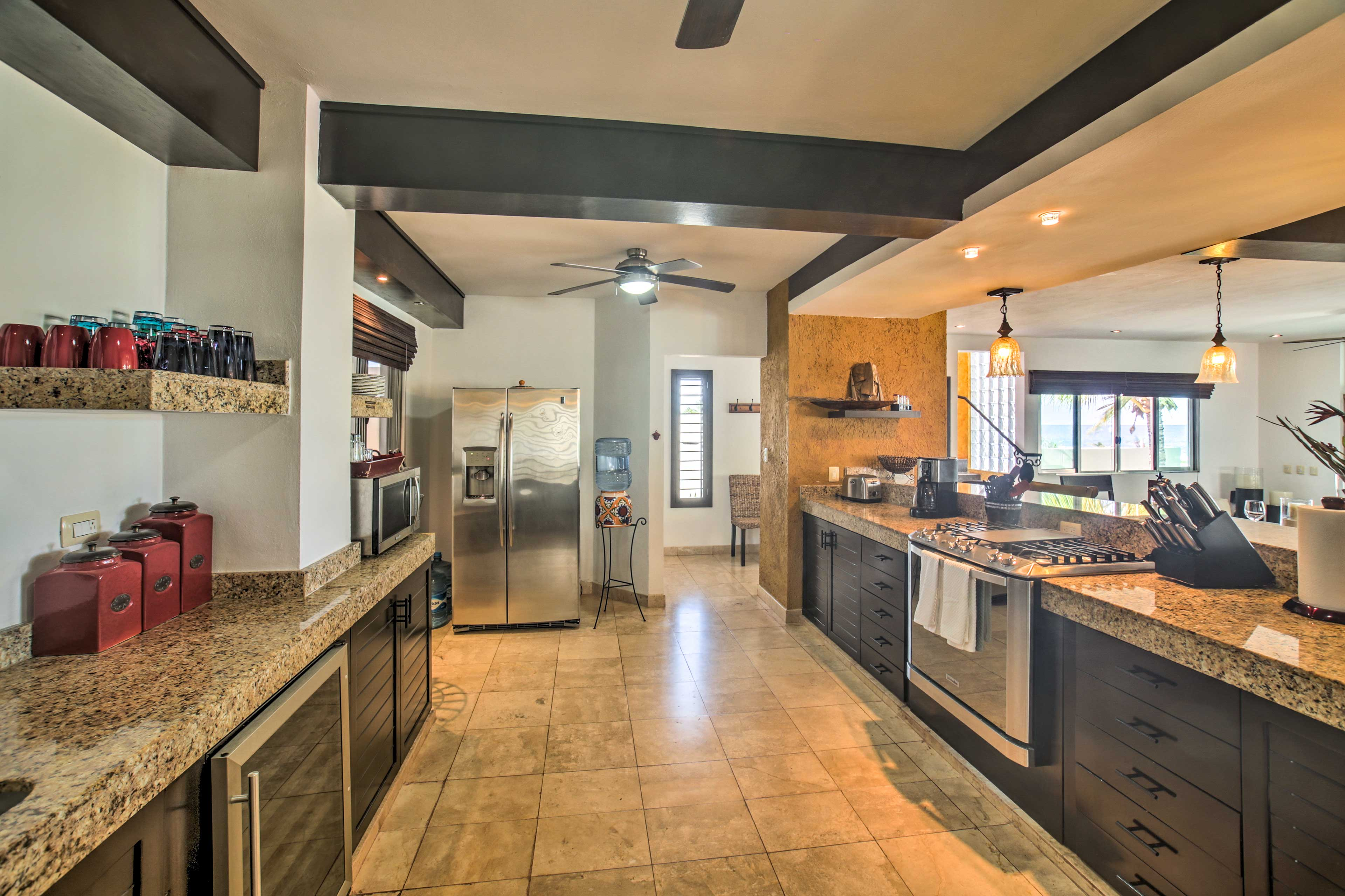 The estate offers 3 fully equipped kitchens!