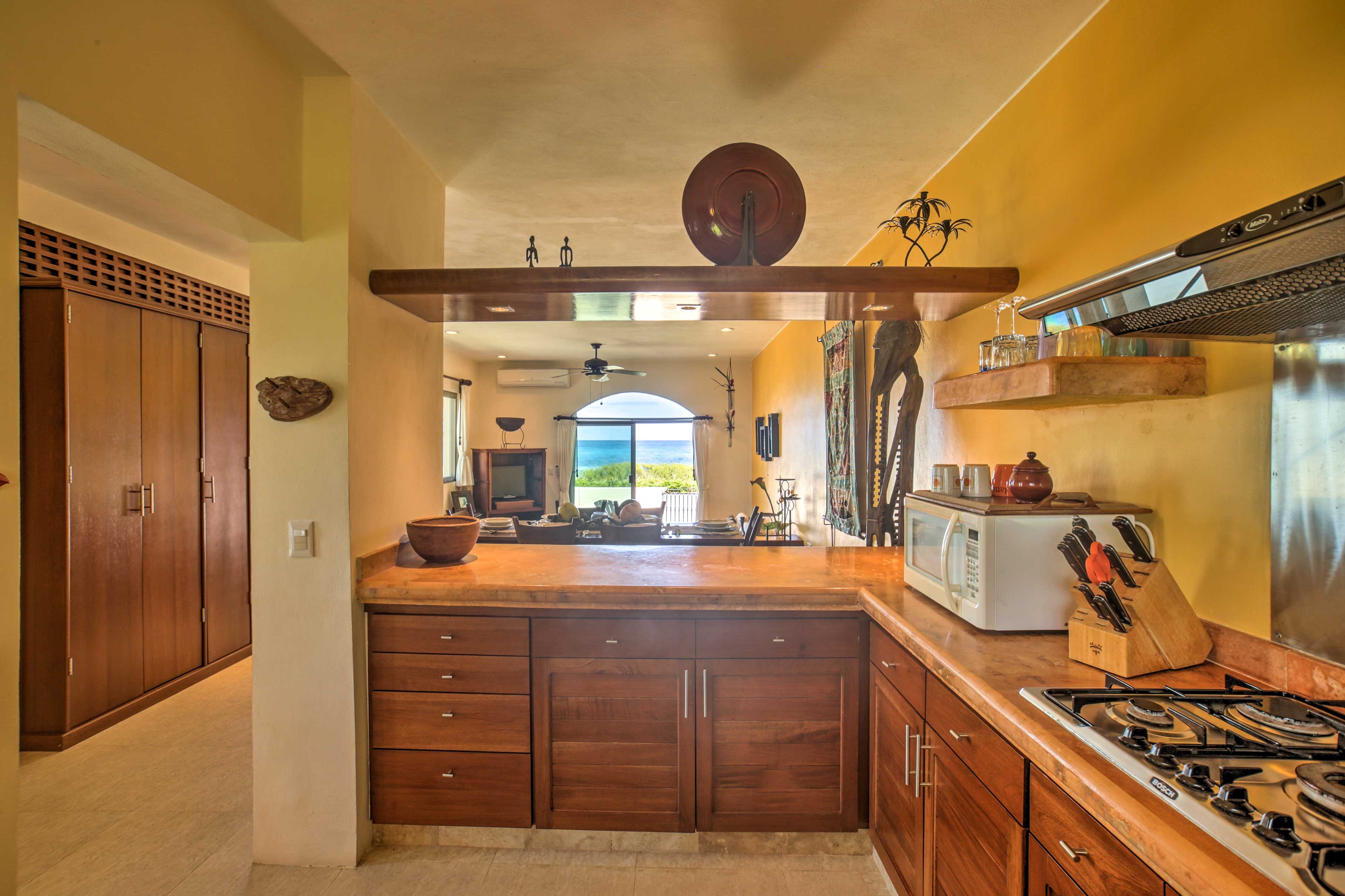 Make a family-favorite recipe in this fully equipped kitchen.