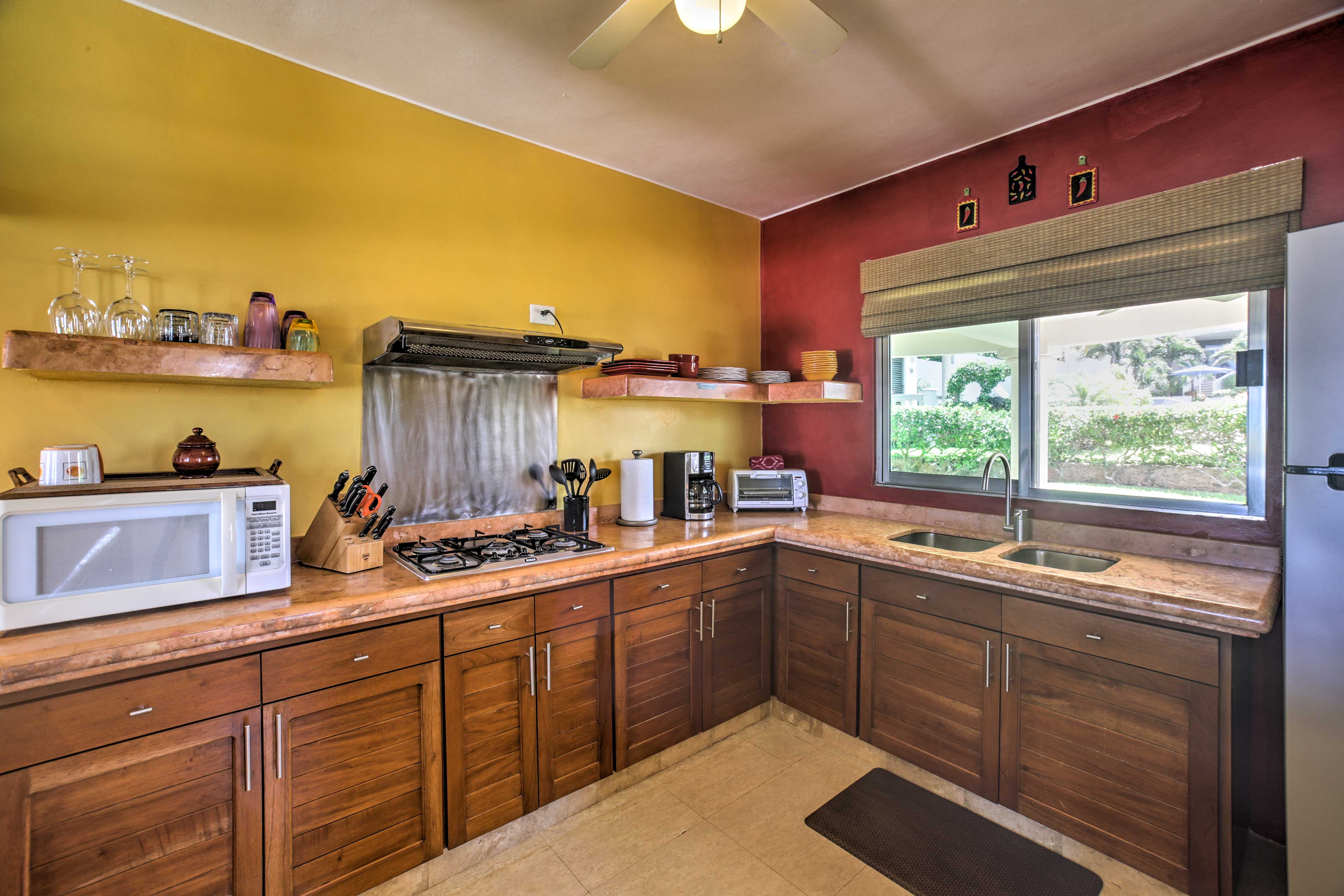Ample counter space makes meal prep a breeze.