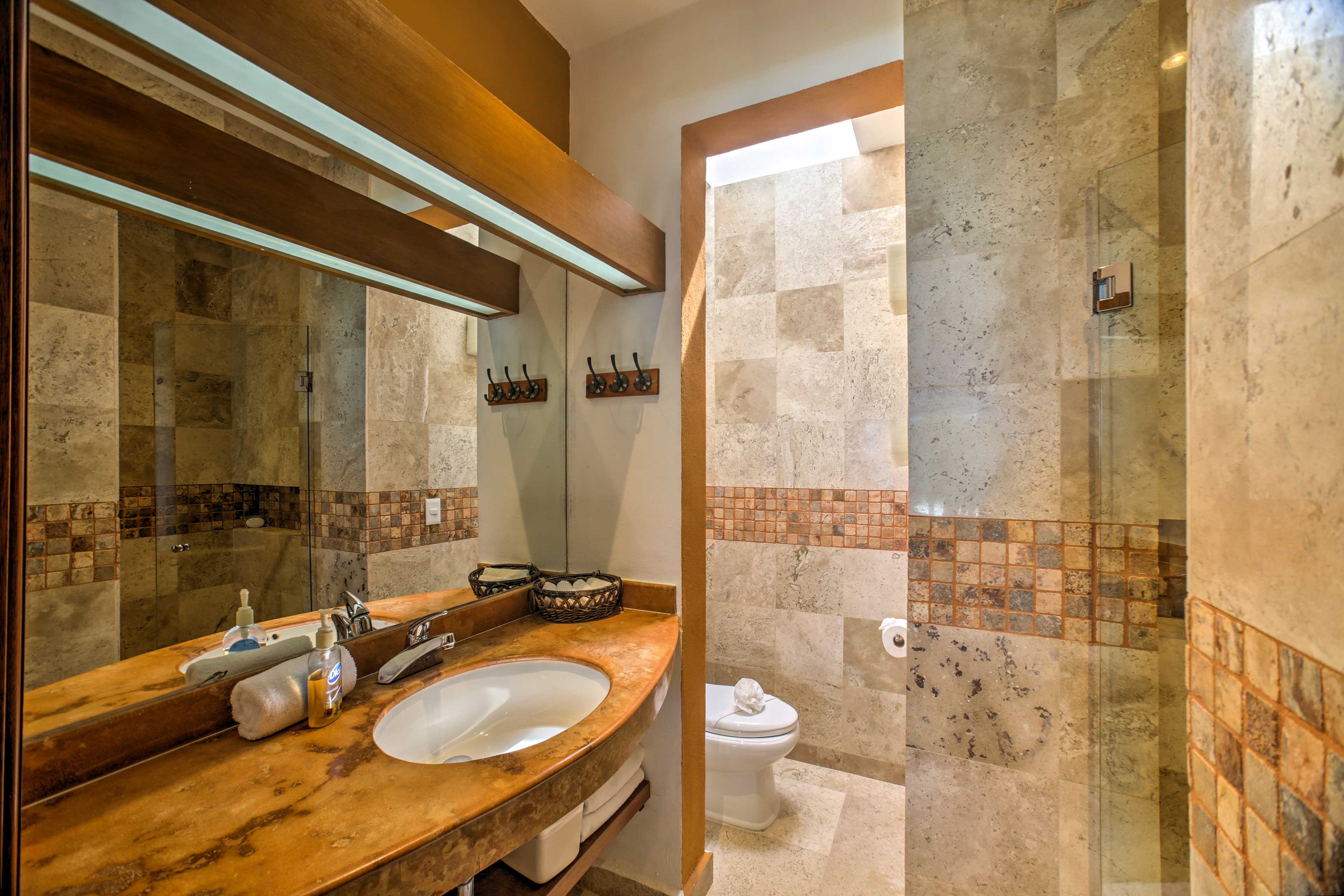 You'll love all of the walk-in showers.