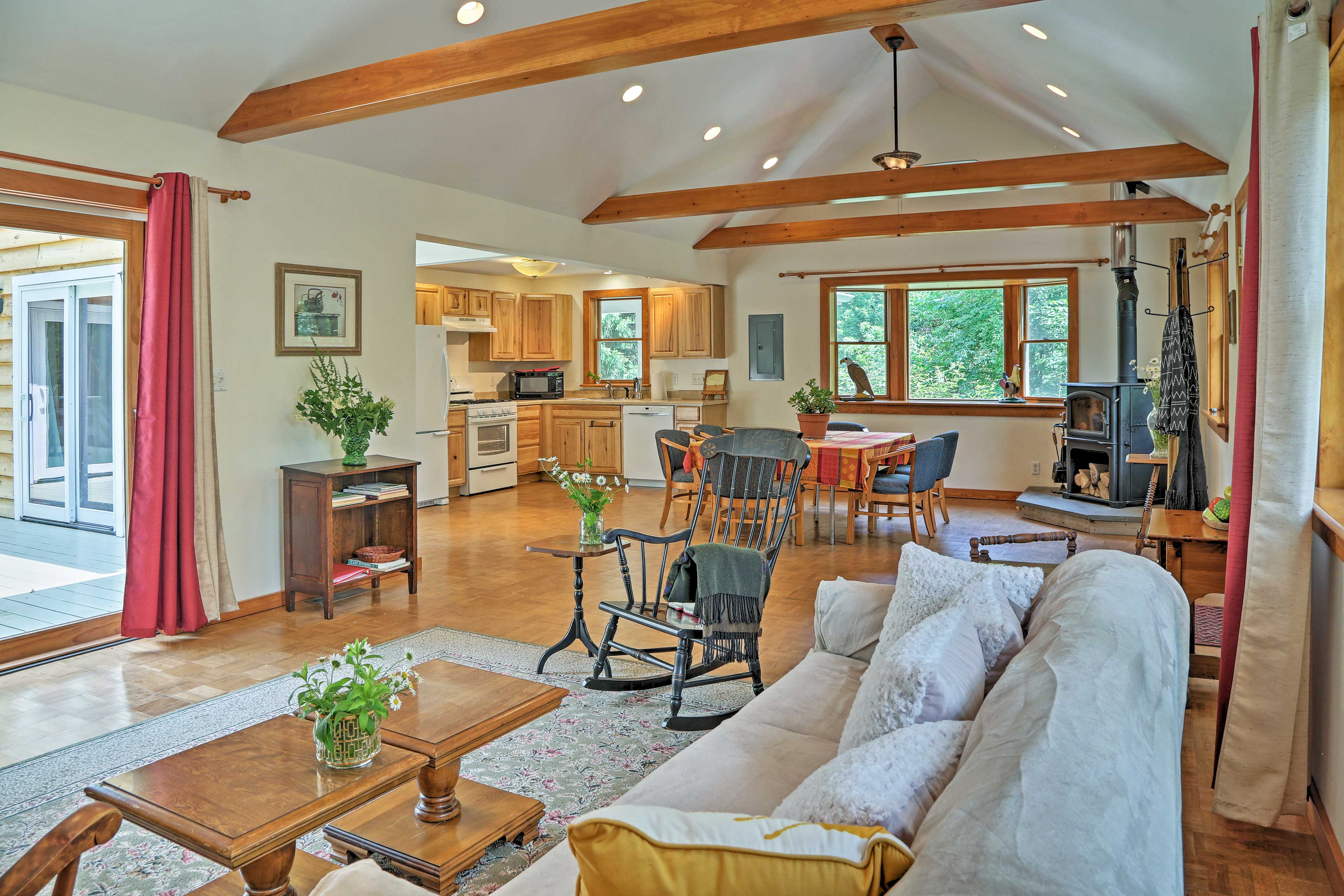 The well-appointed interior offers all the comforts of home.