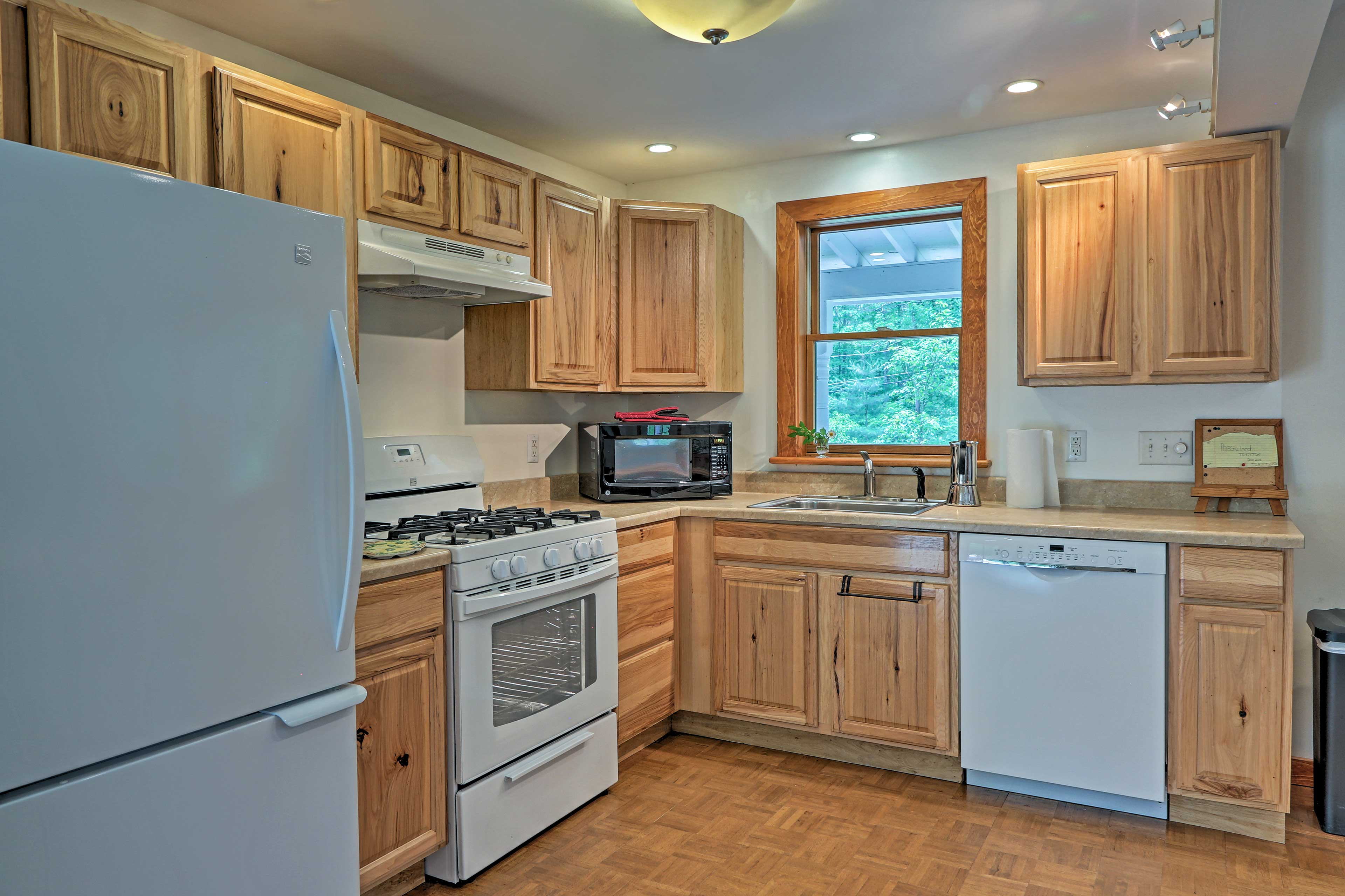 Create a delicious home-cooked meal in the fully equipped kitchen.