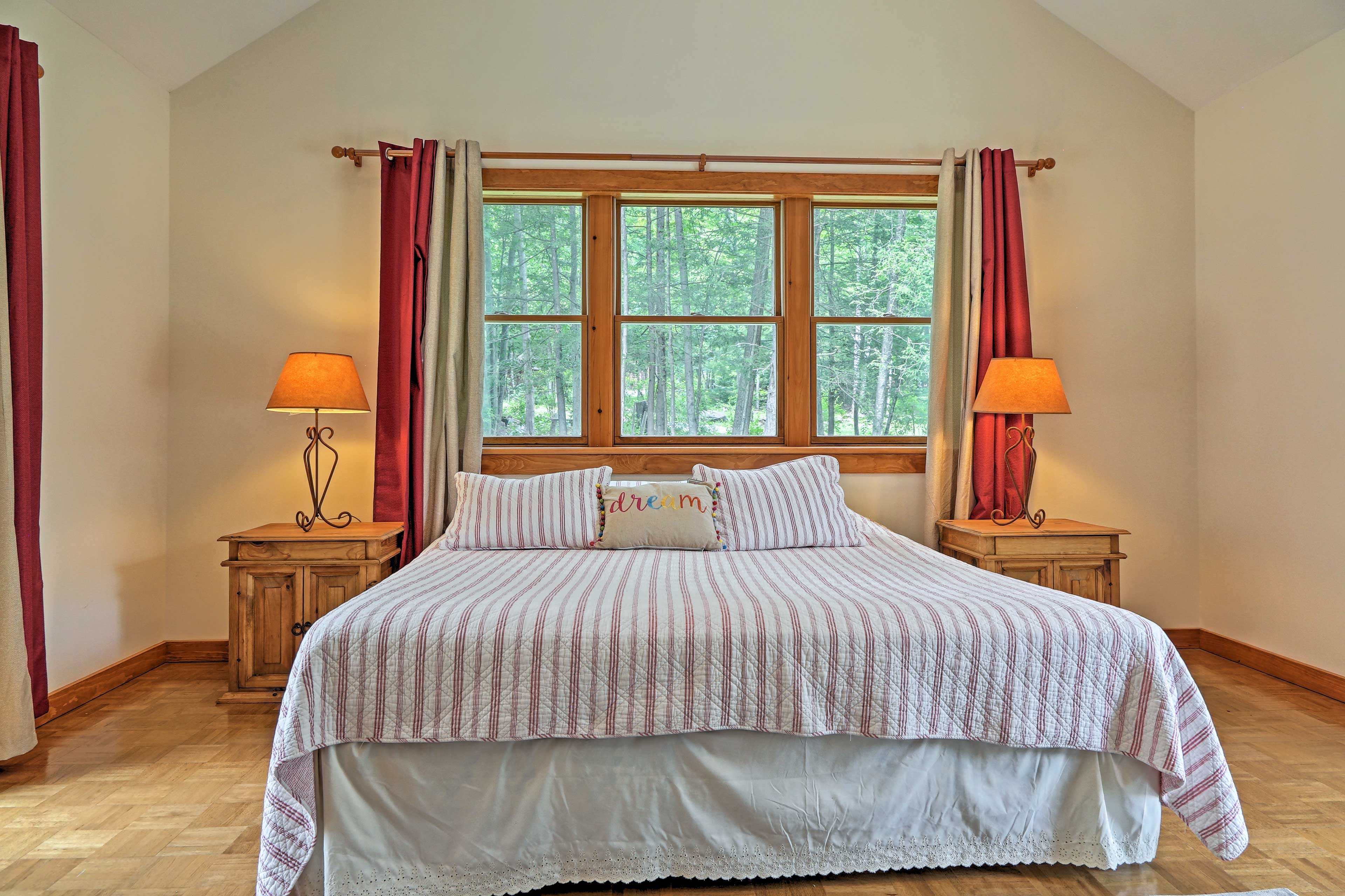 Retreat to the master bedroom for a replenishing night's sleep.