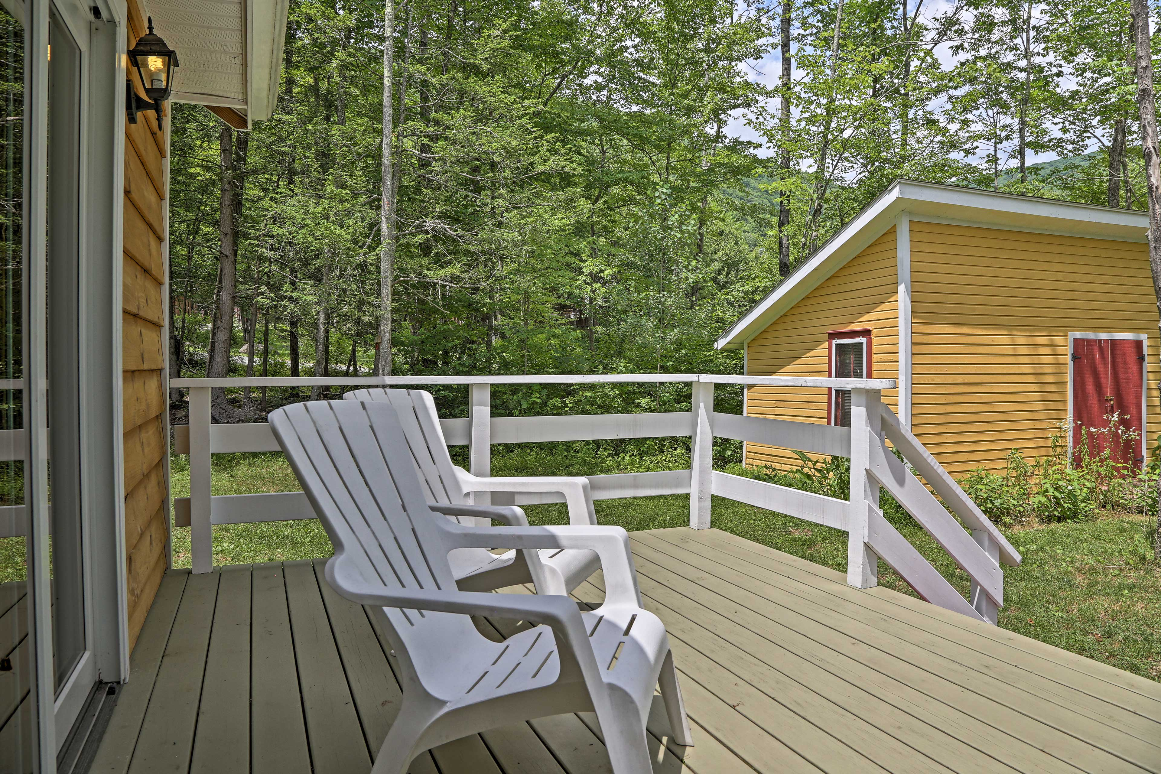 Sip your morning coffee from the side deck.