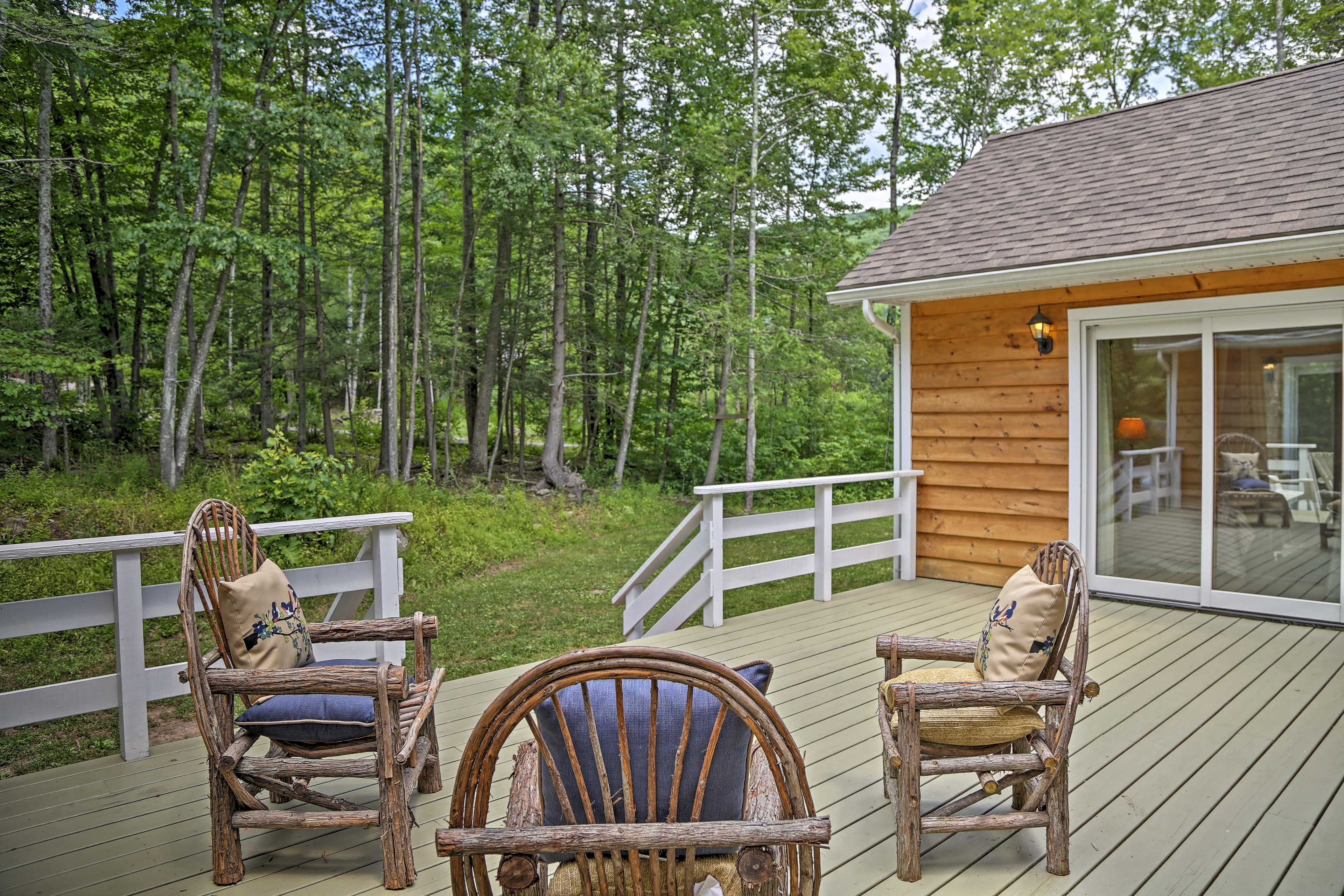 You'll love the away-from-it-all feeling of this nature oasis.