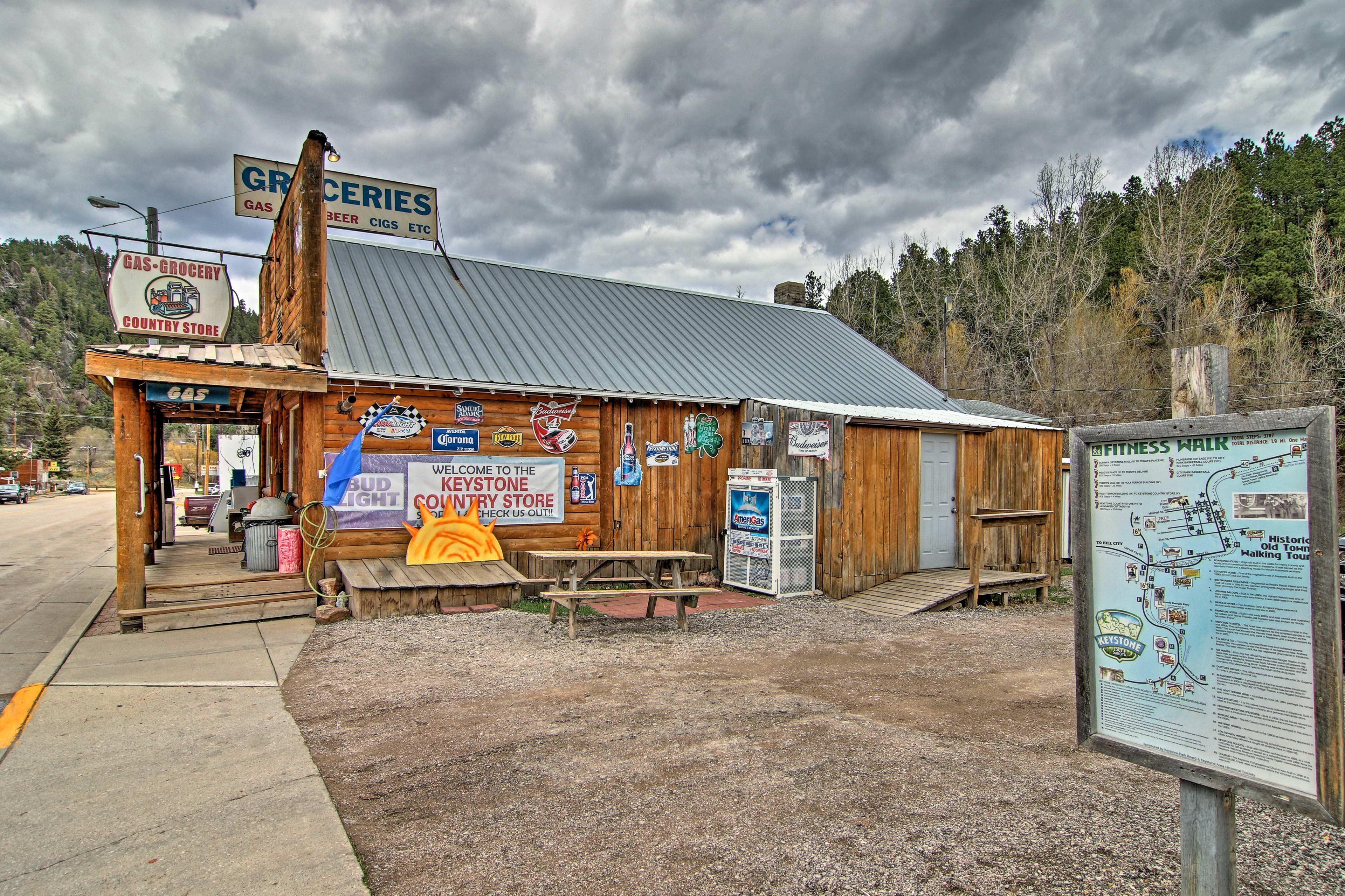 This town is nestled in the picturesque Black Hills National Forest.
