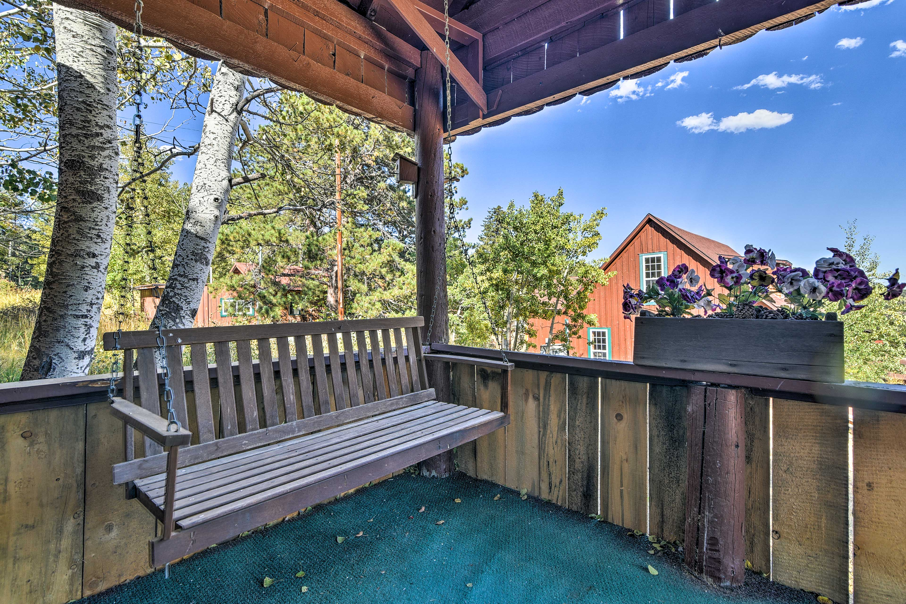 The porch swing will be your favorite place!