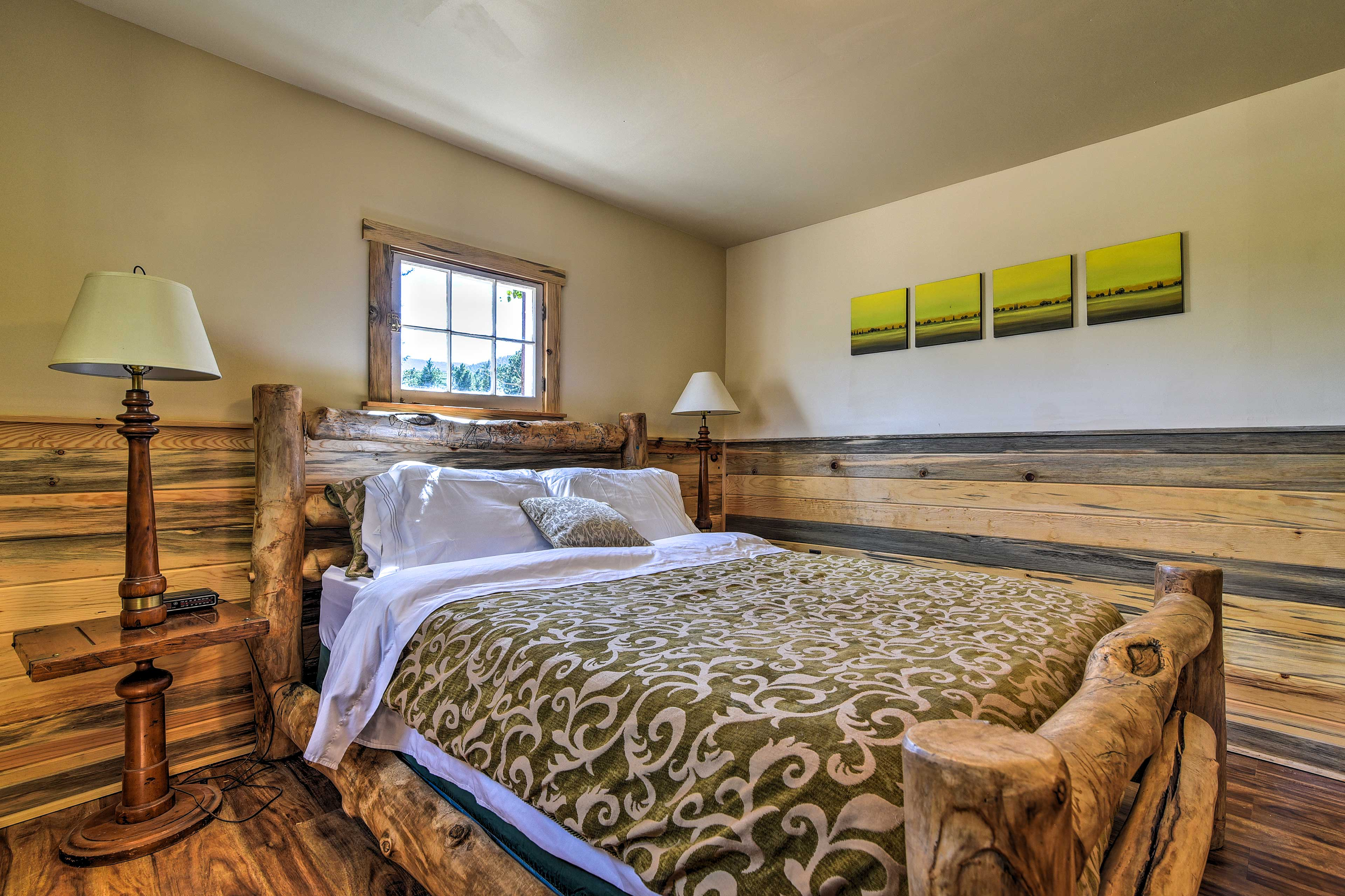 The log bed frame is one-of-a-kind!