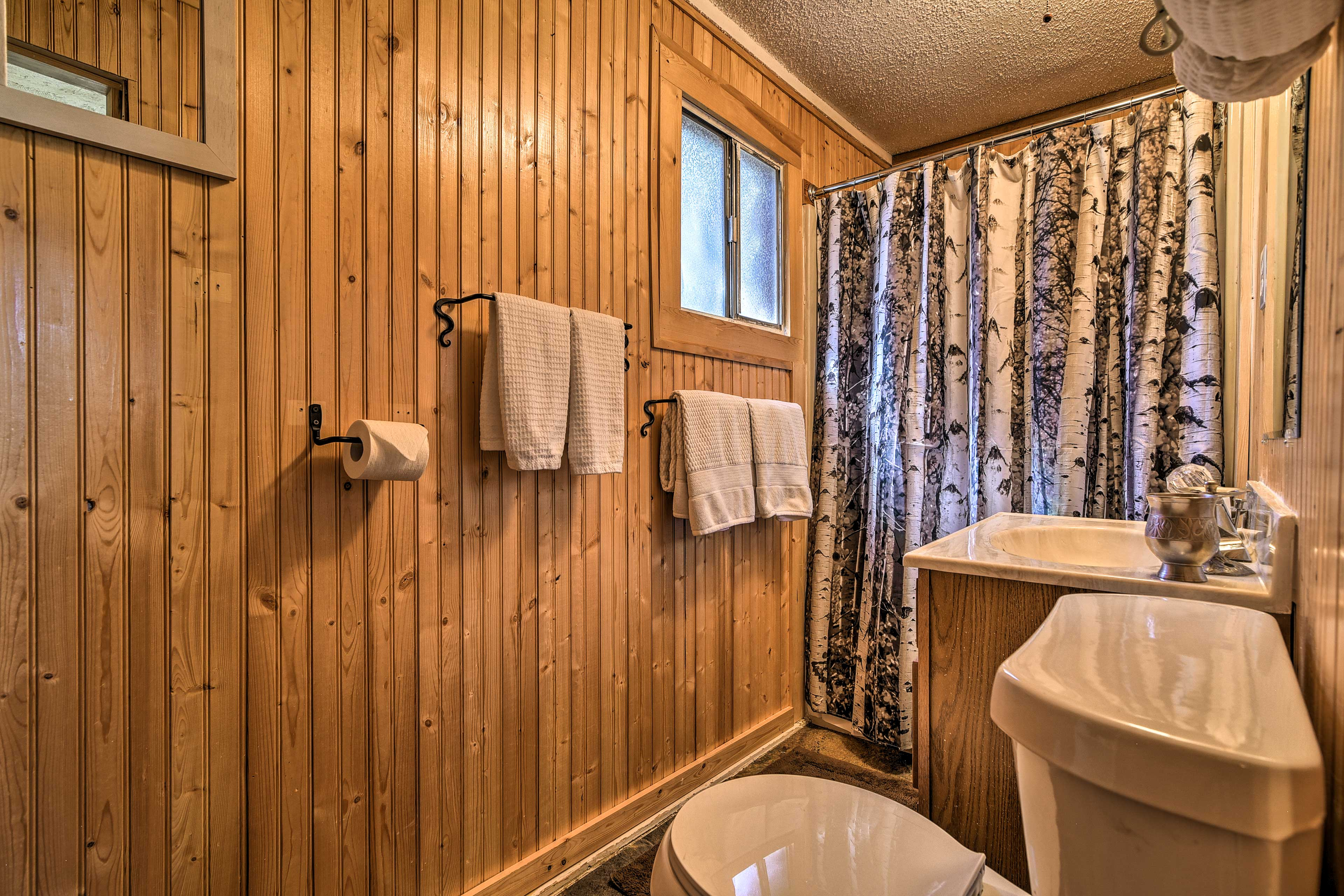The cabin has 1 bathroom.