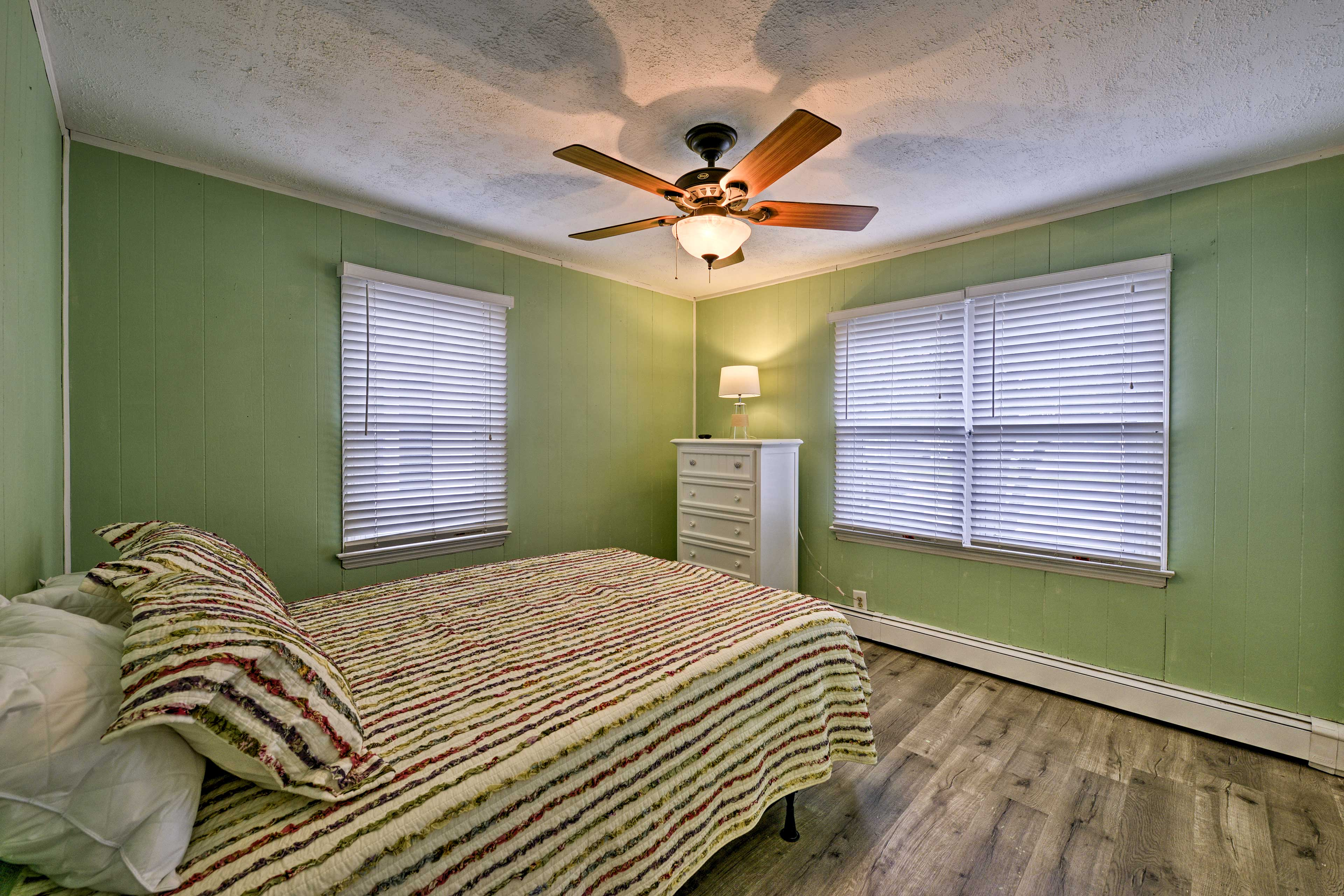 Overhead ceiling fans will keep you cool and comfortable.