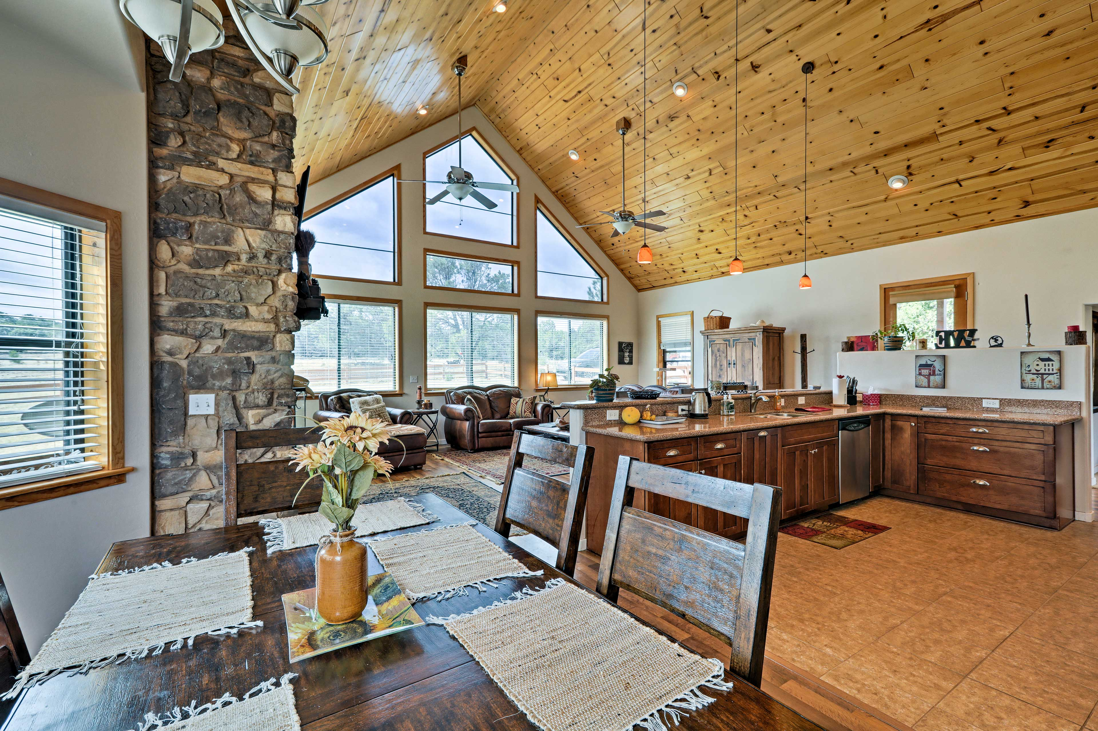 This cabin was designed in 1988 and the chalet addition was made in 2007!
