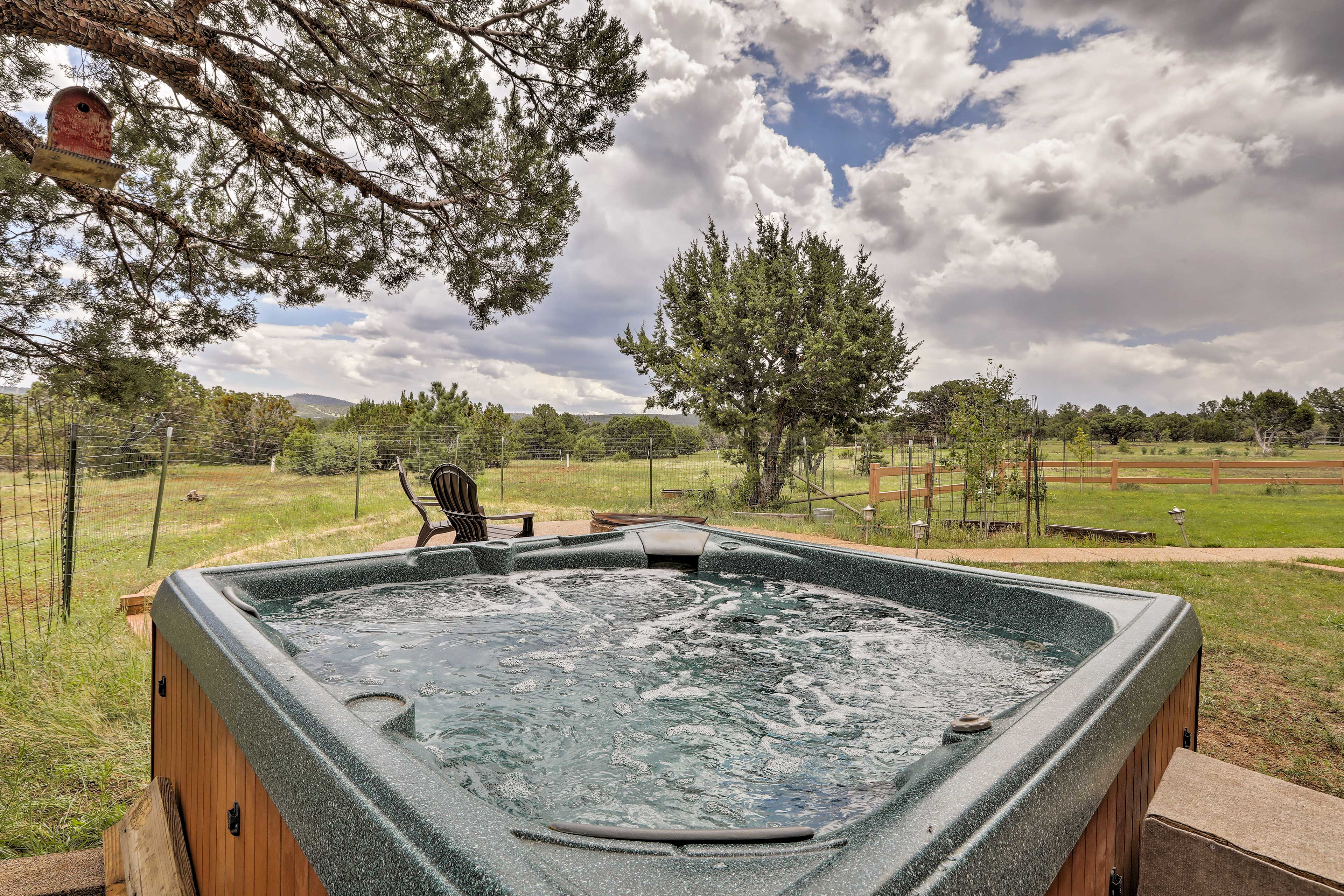 Soak in the hot tub any time of day for optimal relaxation!