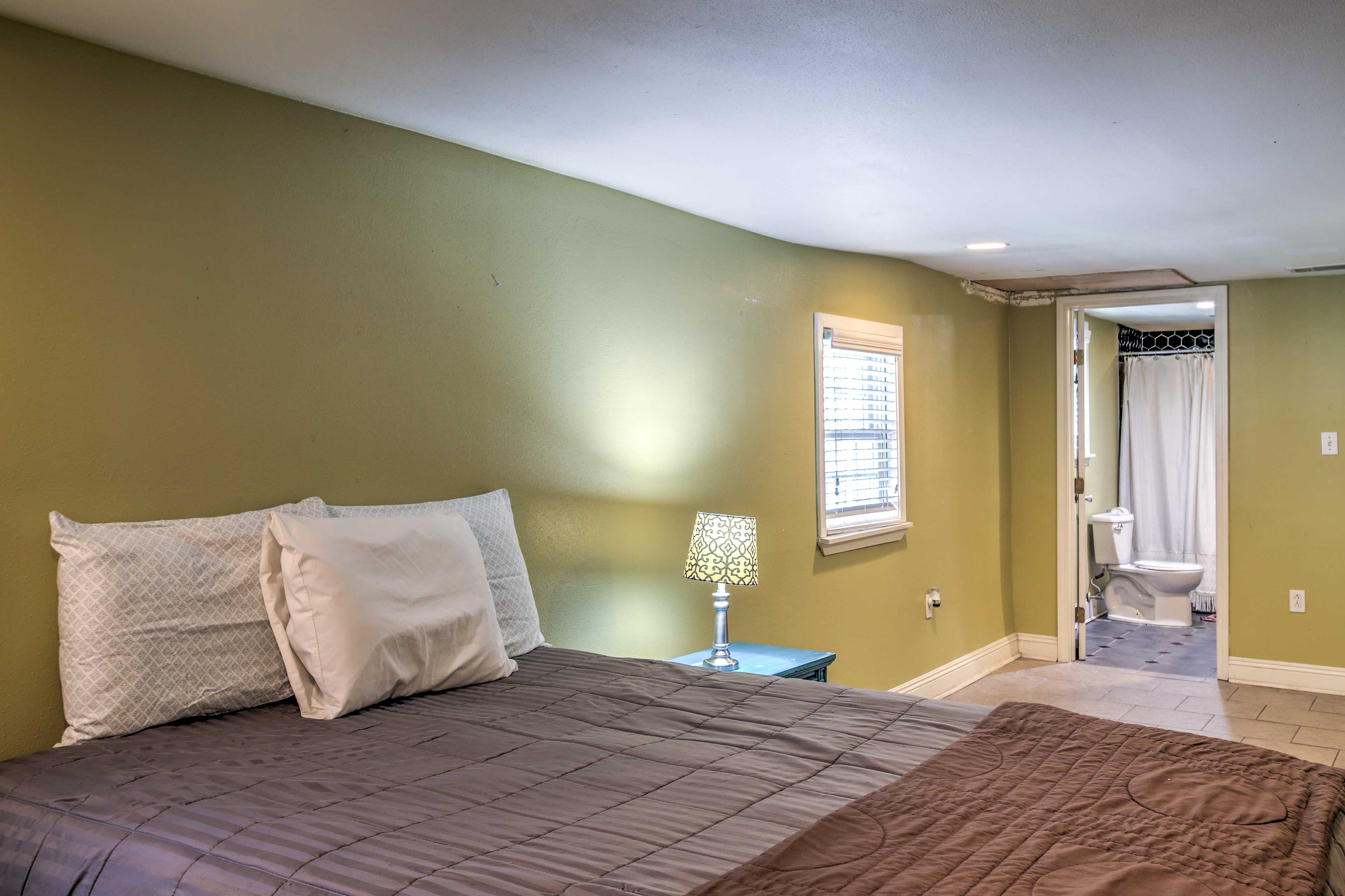 The full bathroom is just steps away, completing your bedroom sanctuary.