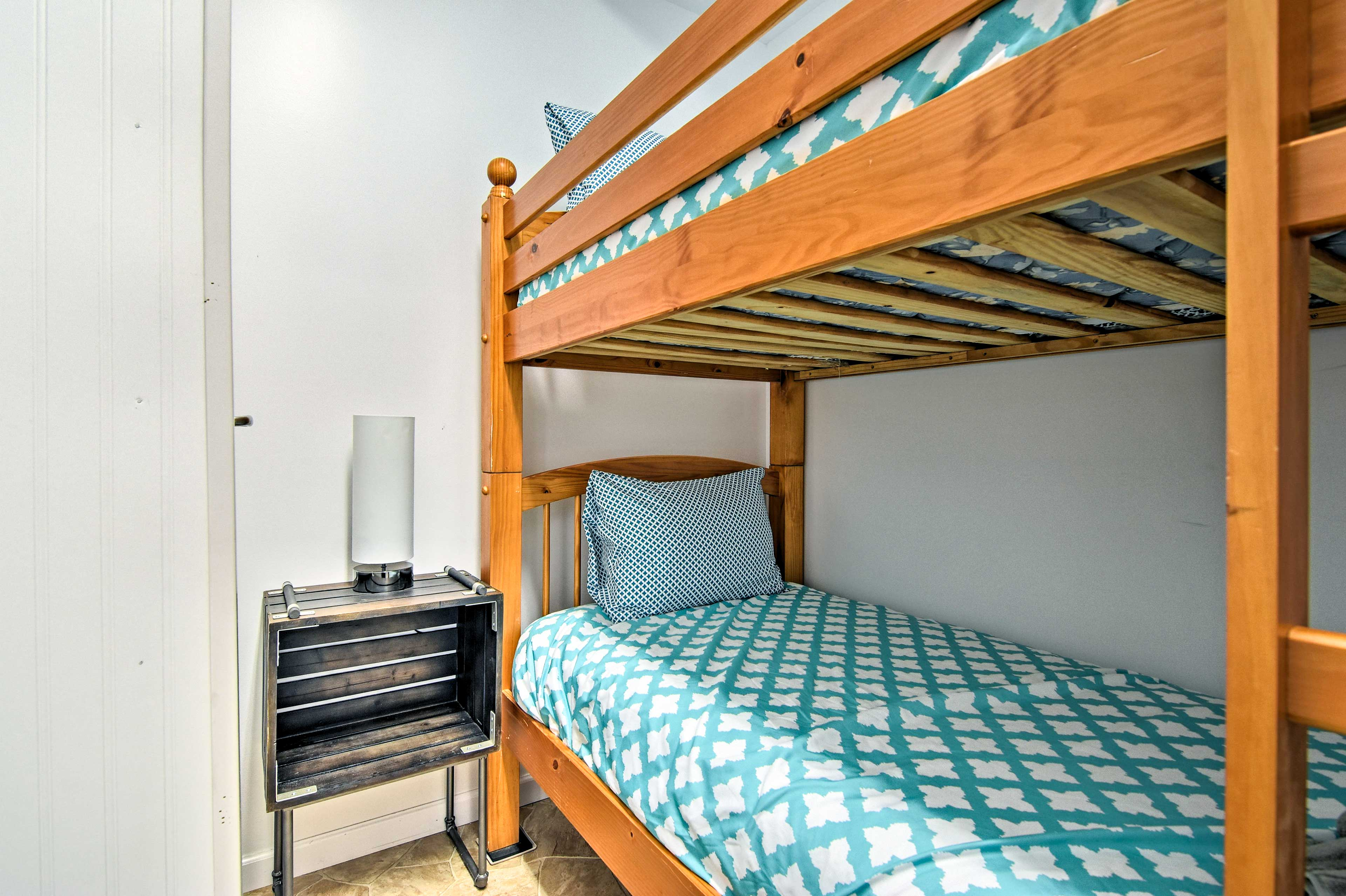 The bunk room is great for kids!