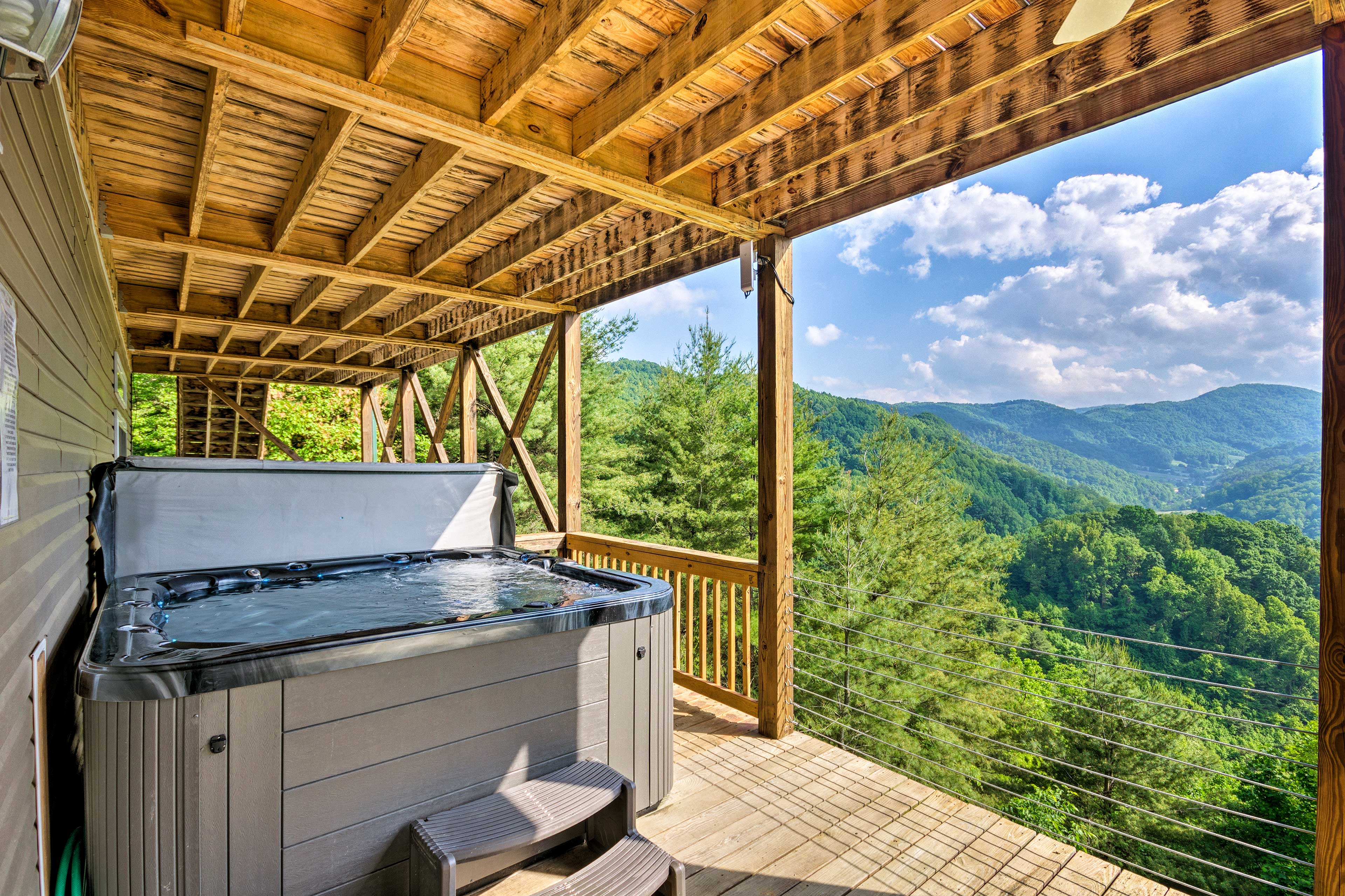 Scenic and secluded, this vacation home serves as your Asheville area sanctuary.