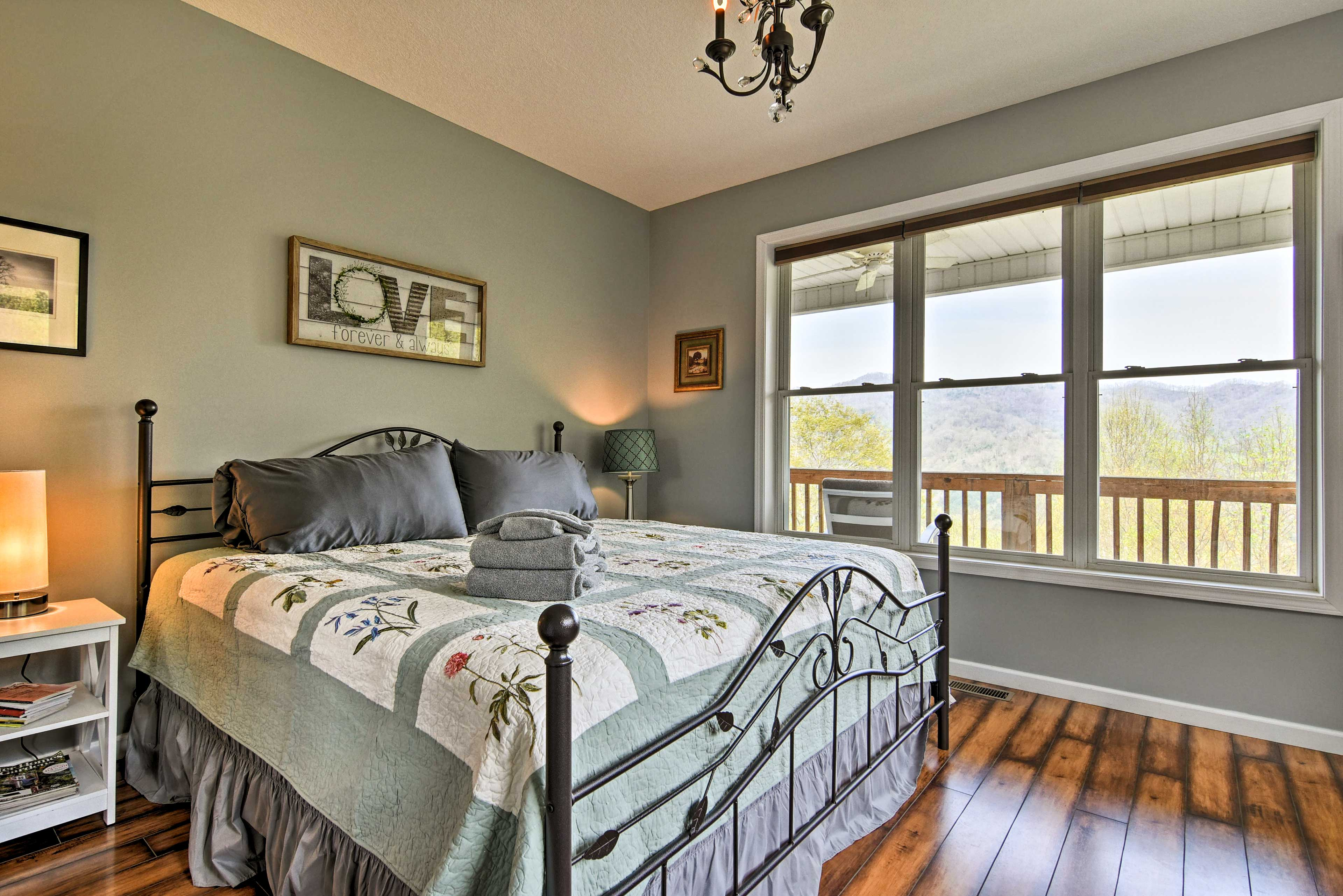 You'll feel right at home in this well-appointed bedroom.