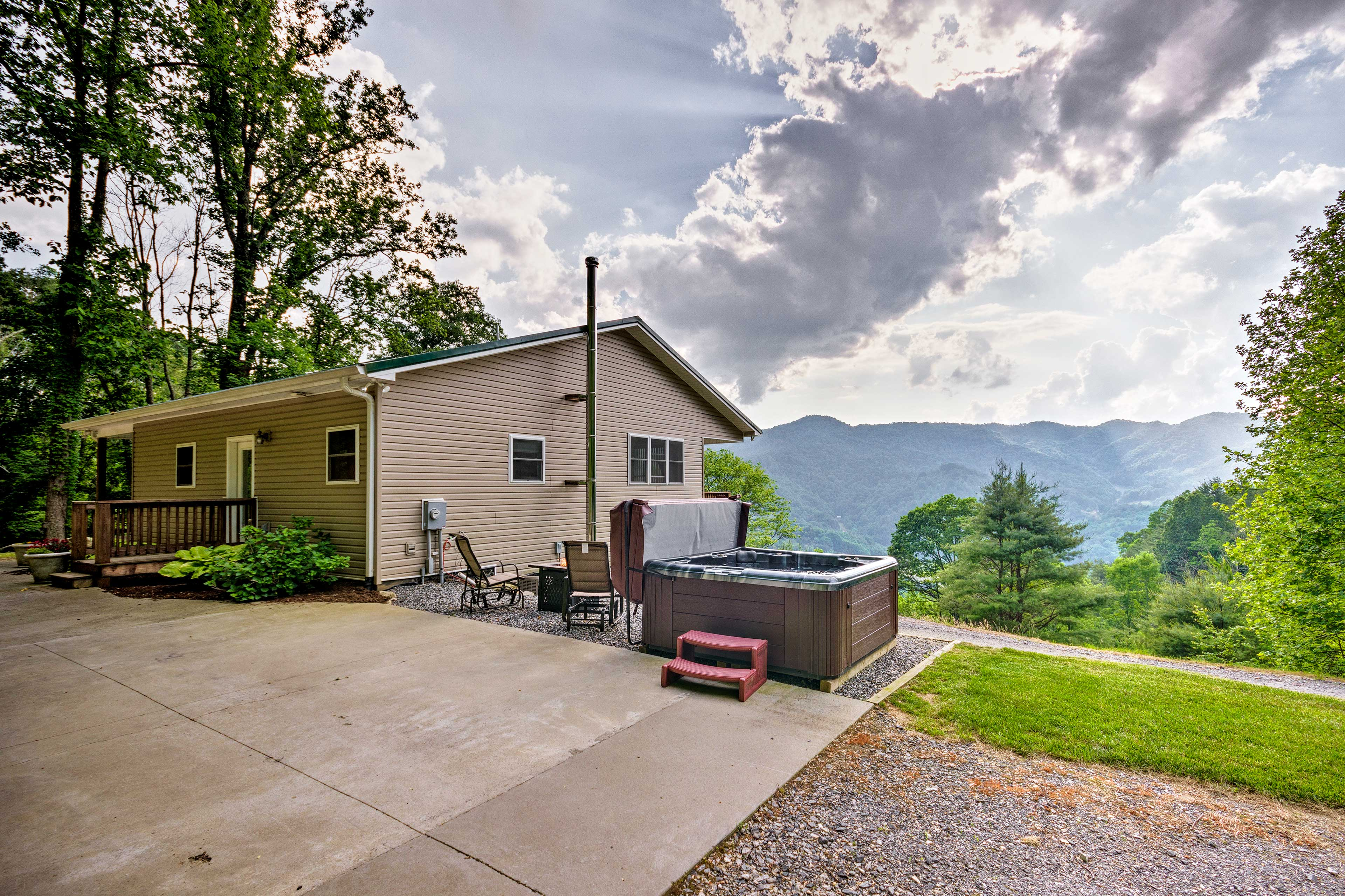 Explore the Asheville area during the day and soak in the hot tub at night!
