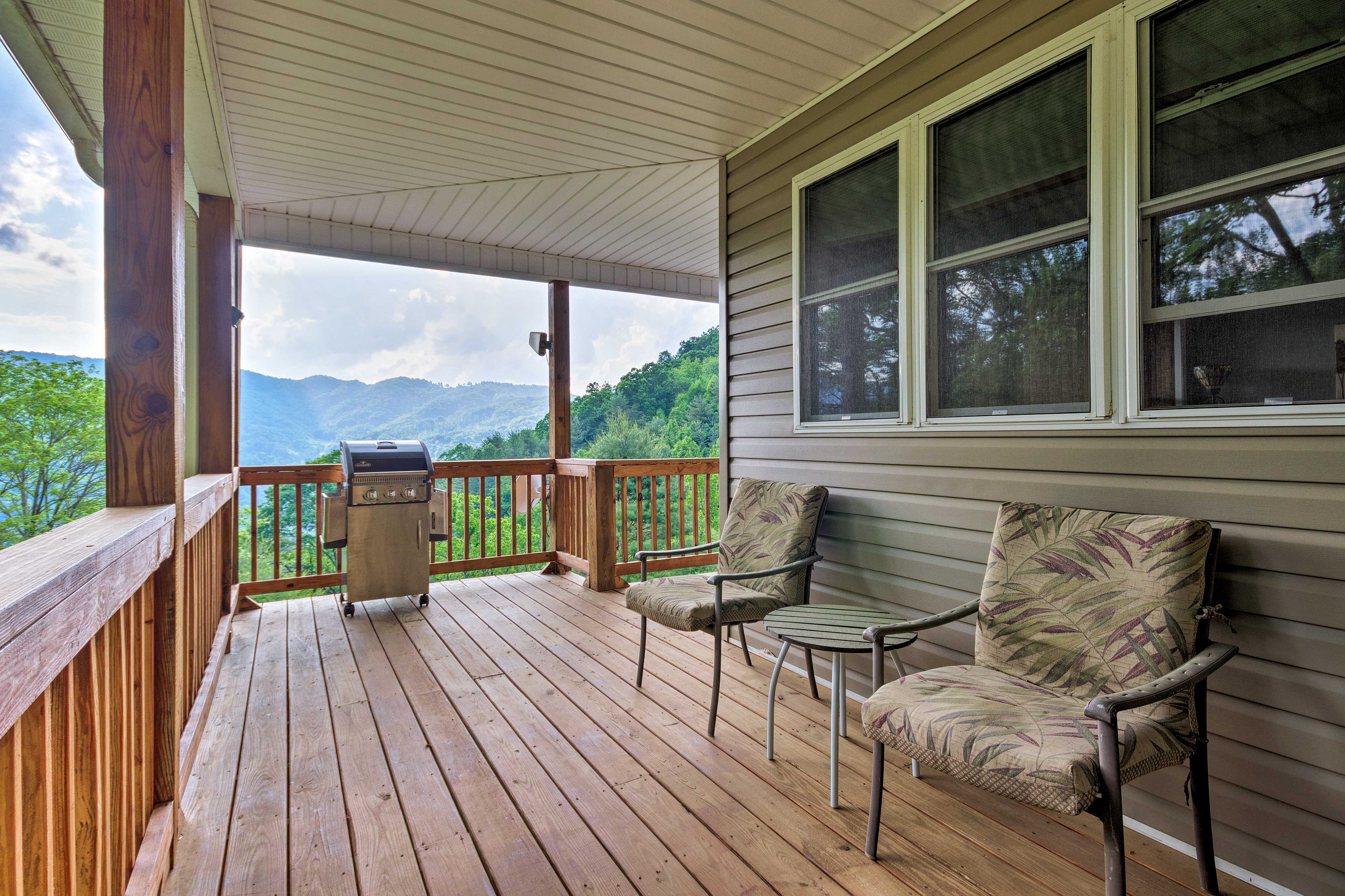 There's plenty of room for everyone on the deck.