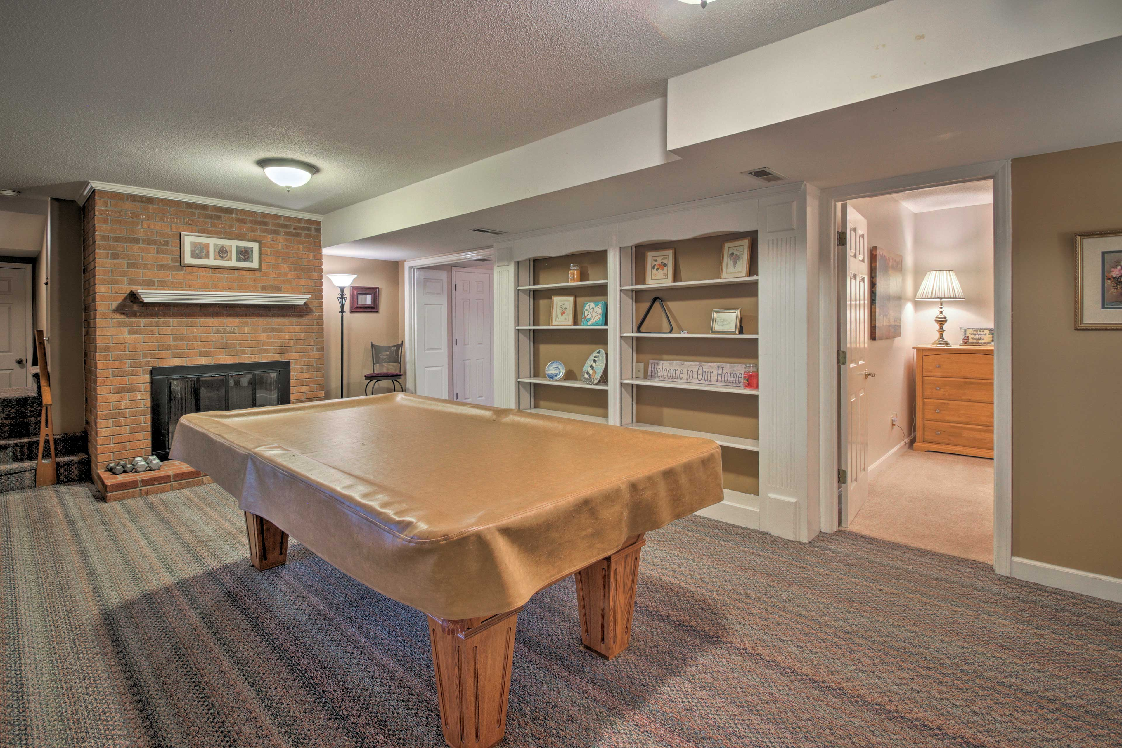 There's even a ping-pong table provided in the garage.