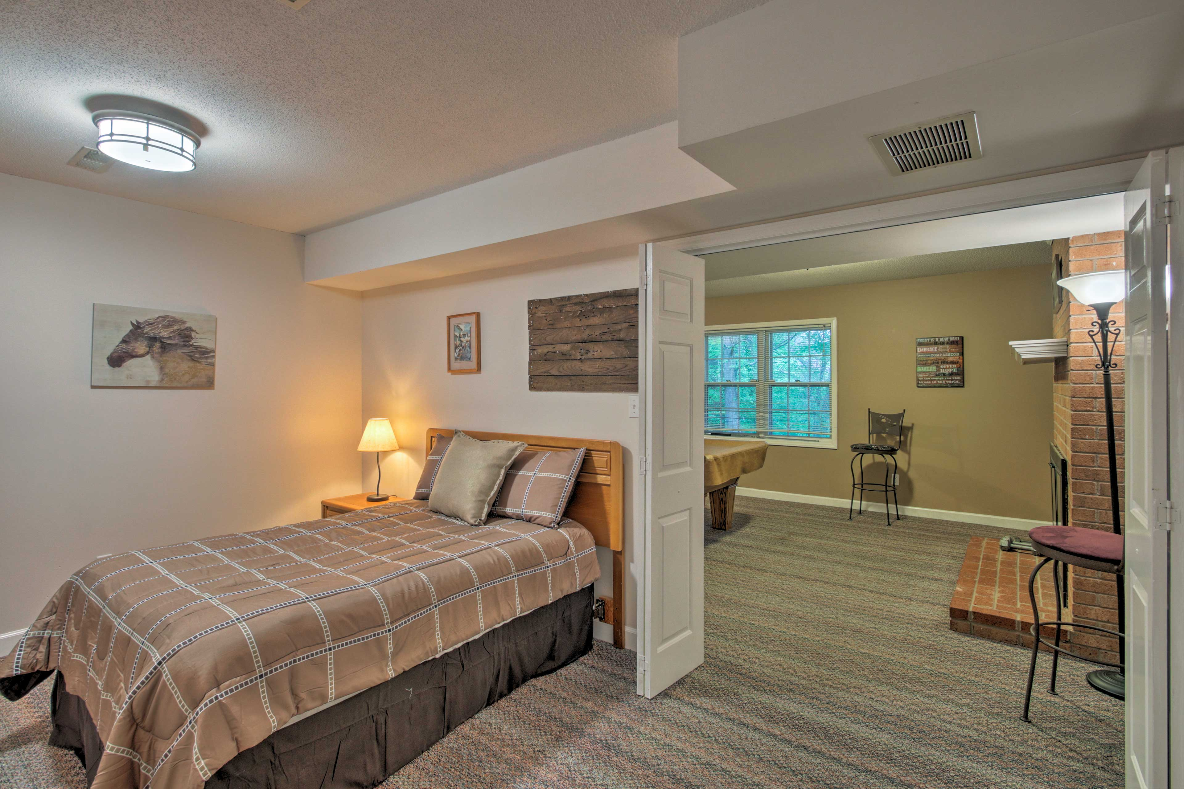 Travelers will have 5 spacious bedrooms to choose from.