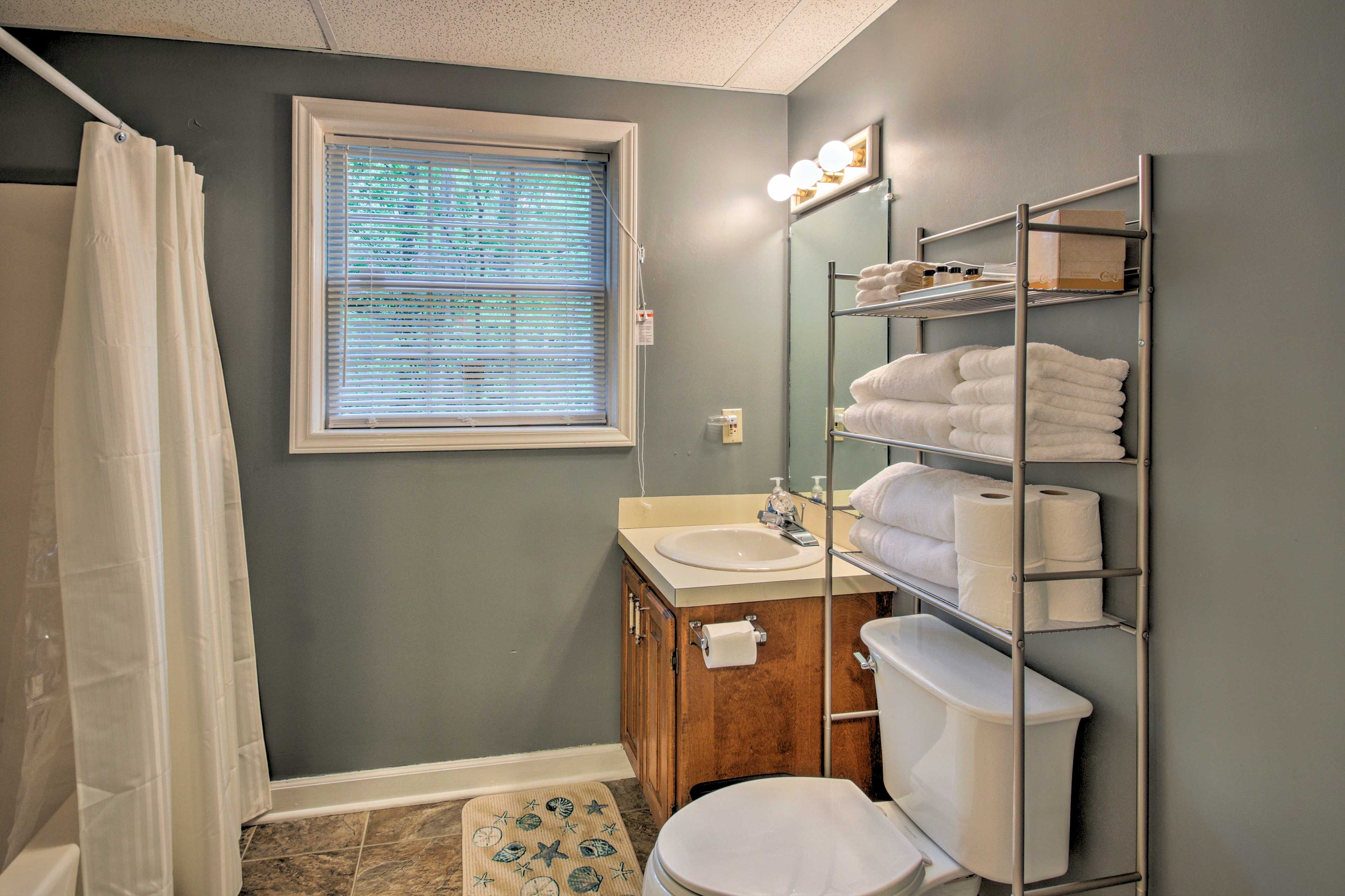Morning routines will be a breeze using the 3 full bathrooms.