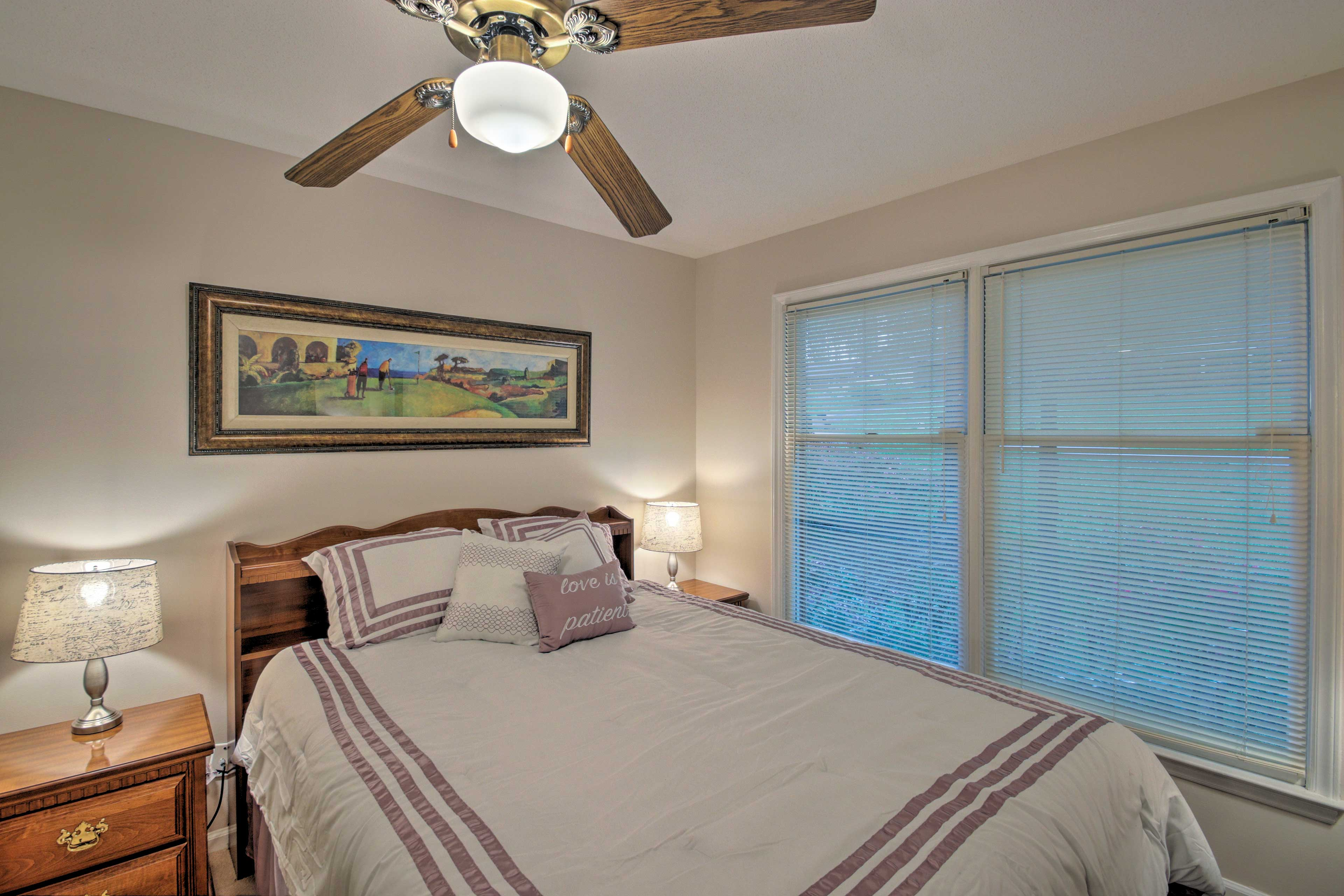 The master bedroom boasts a luxurious king-size mattress.