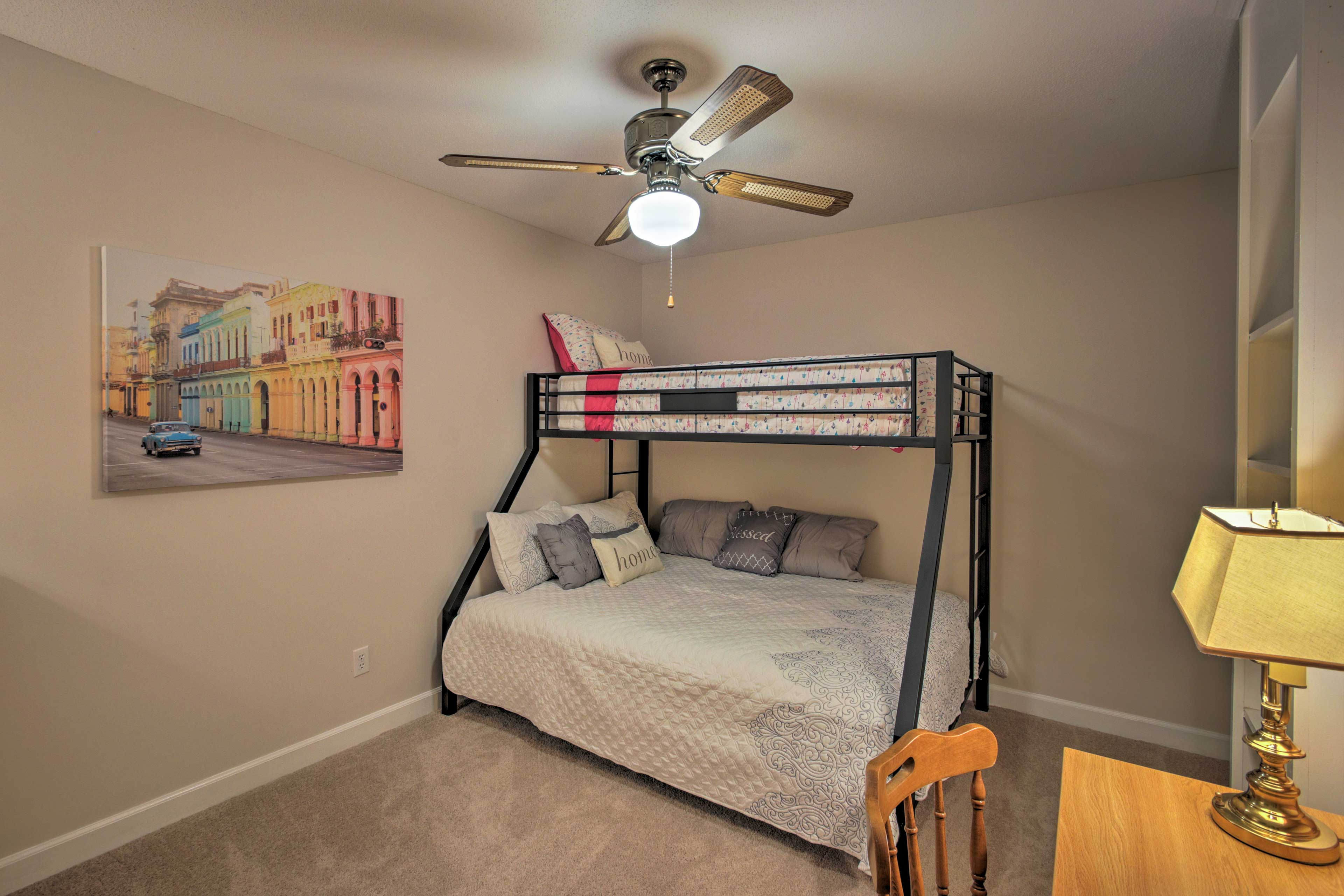 The fifth bedroom is the perfect sleeping quarters for kiddos!