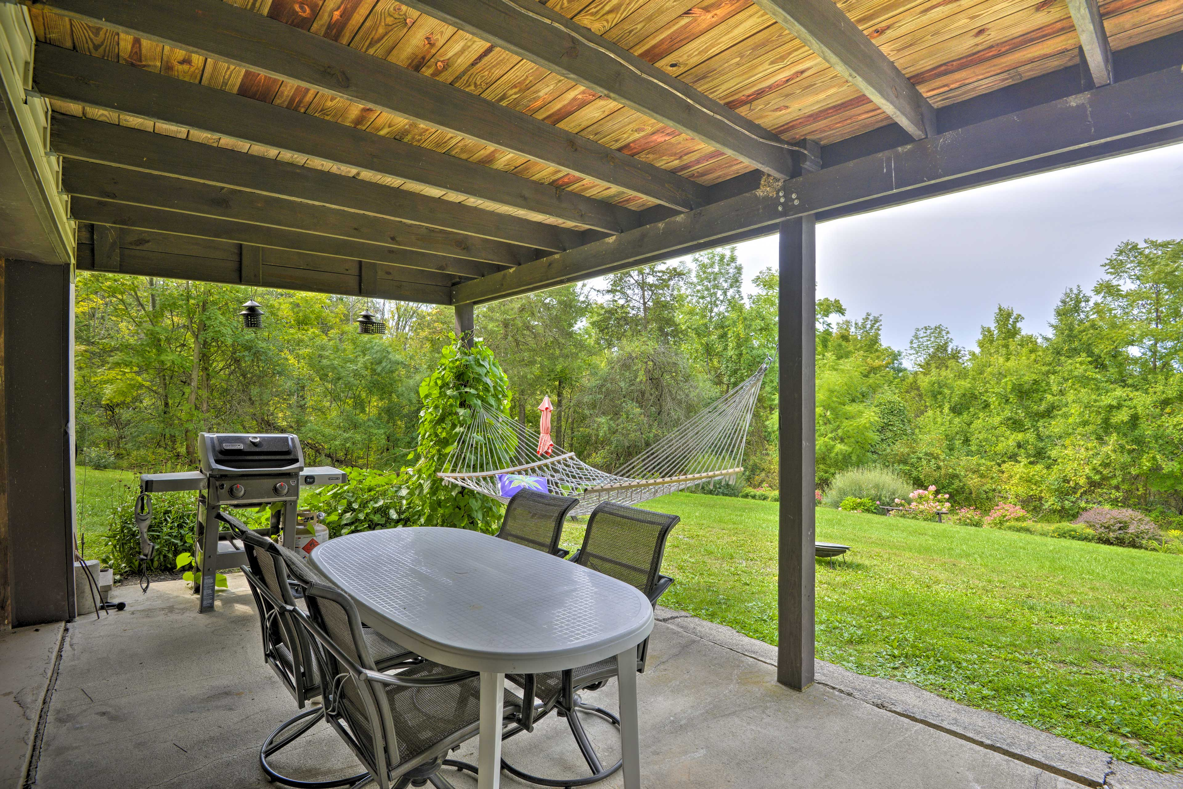 Enjoy an afternoon cookout on the covered deck.